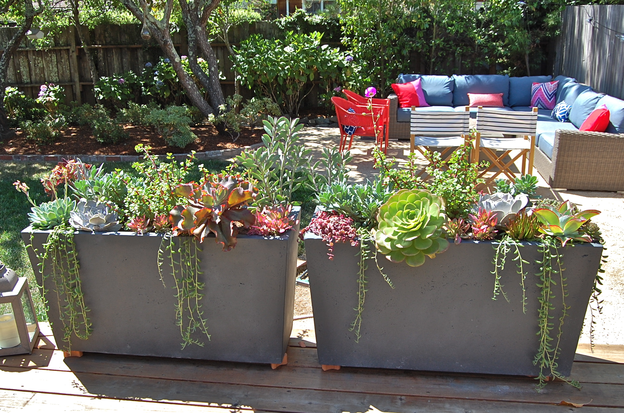 CUSTOM OUTDOOR PLANTERS PROJECT IN COLLABORATION WITH  YELLOW HOUSE INTERIOR DESIGN IN LARKSPUR, CA