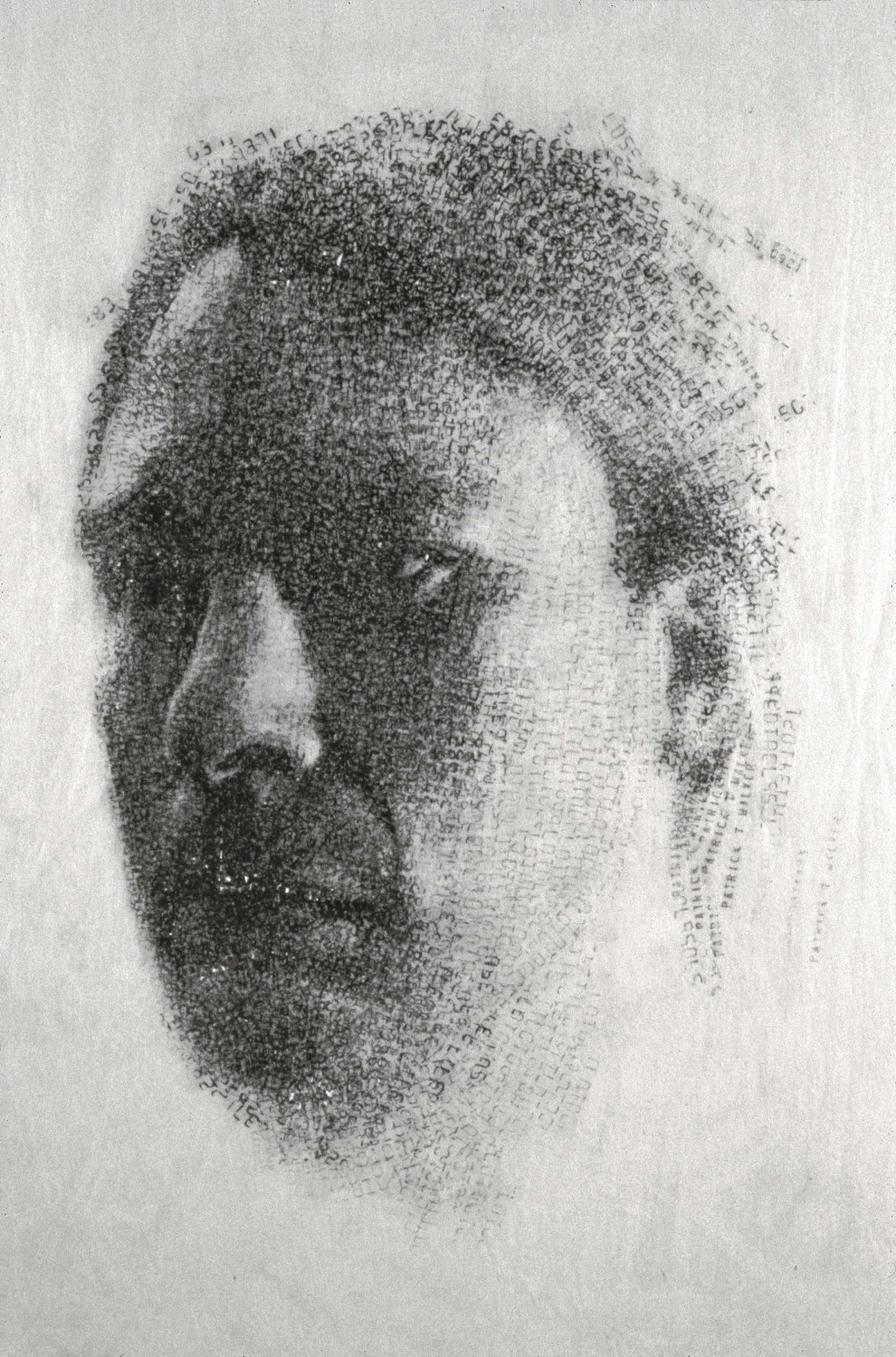 PAT   1993 H45, W35 cm Japanese paper, graphite Private collection