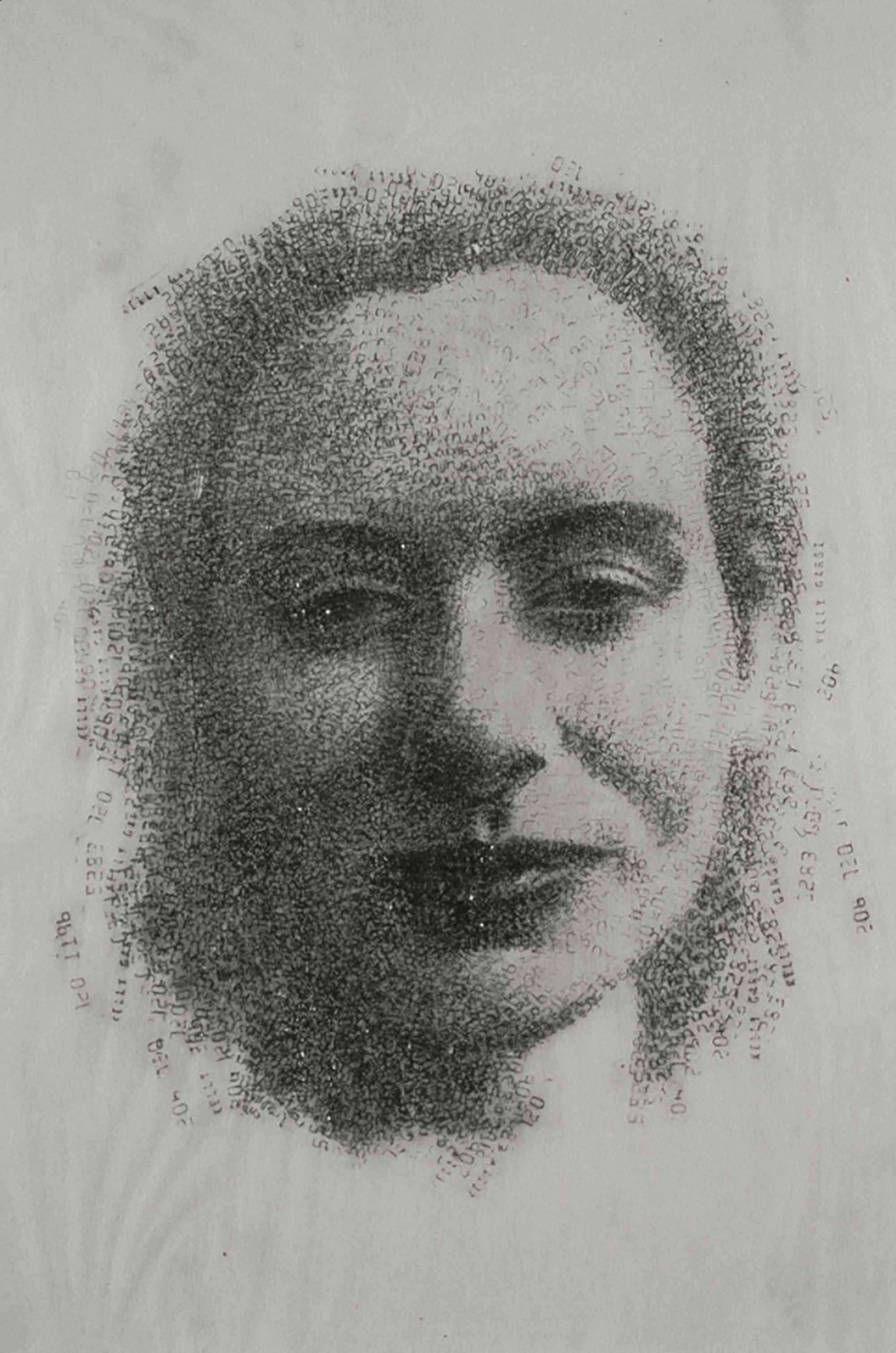 KELLY   1993 H45, W35 cm Japanese paper, graphite Private collection