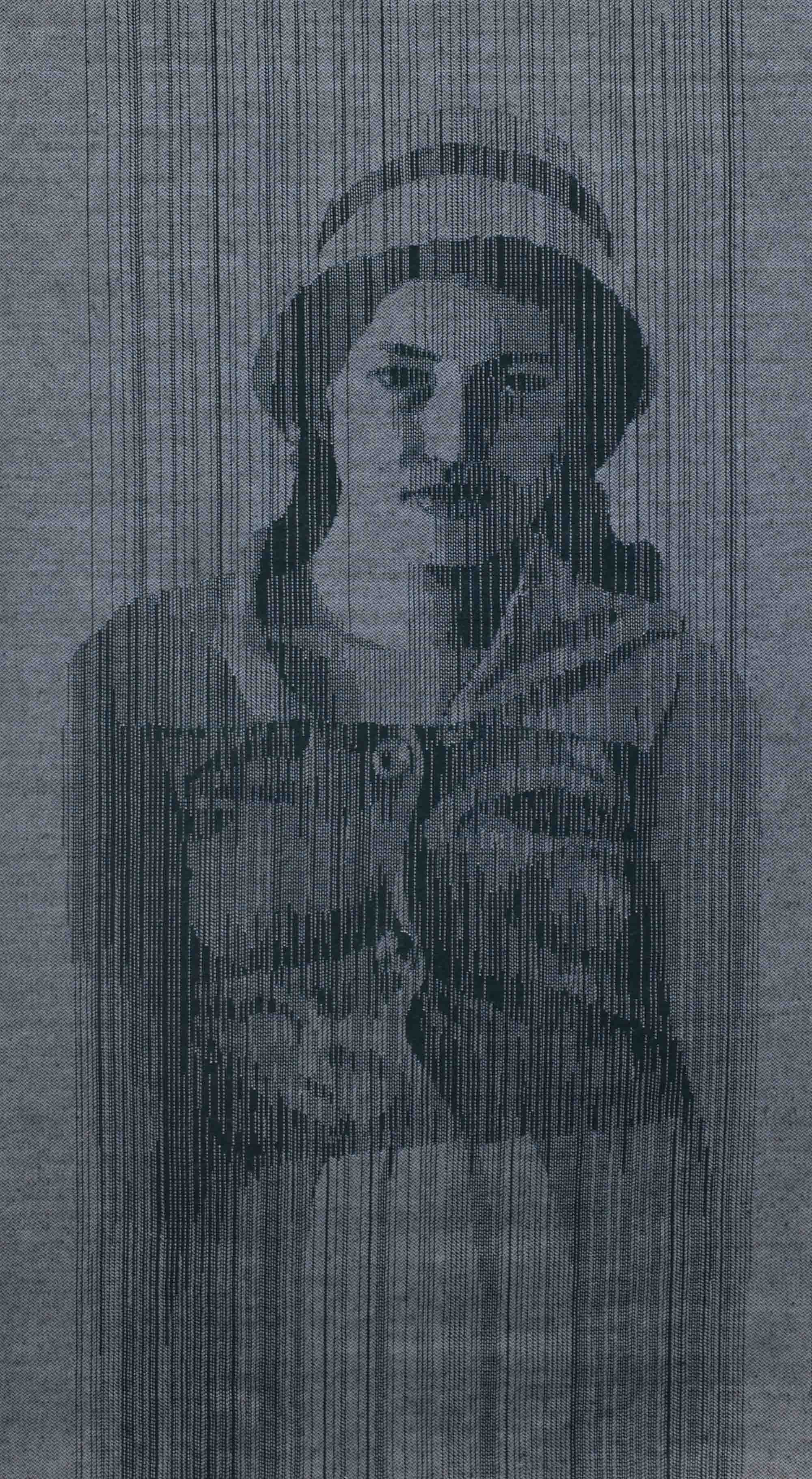 WARP & WEFT - MOTHER   2007 H74, W43 cm Fabric with threads removed Private collection