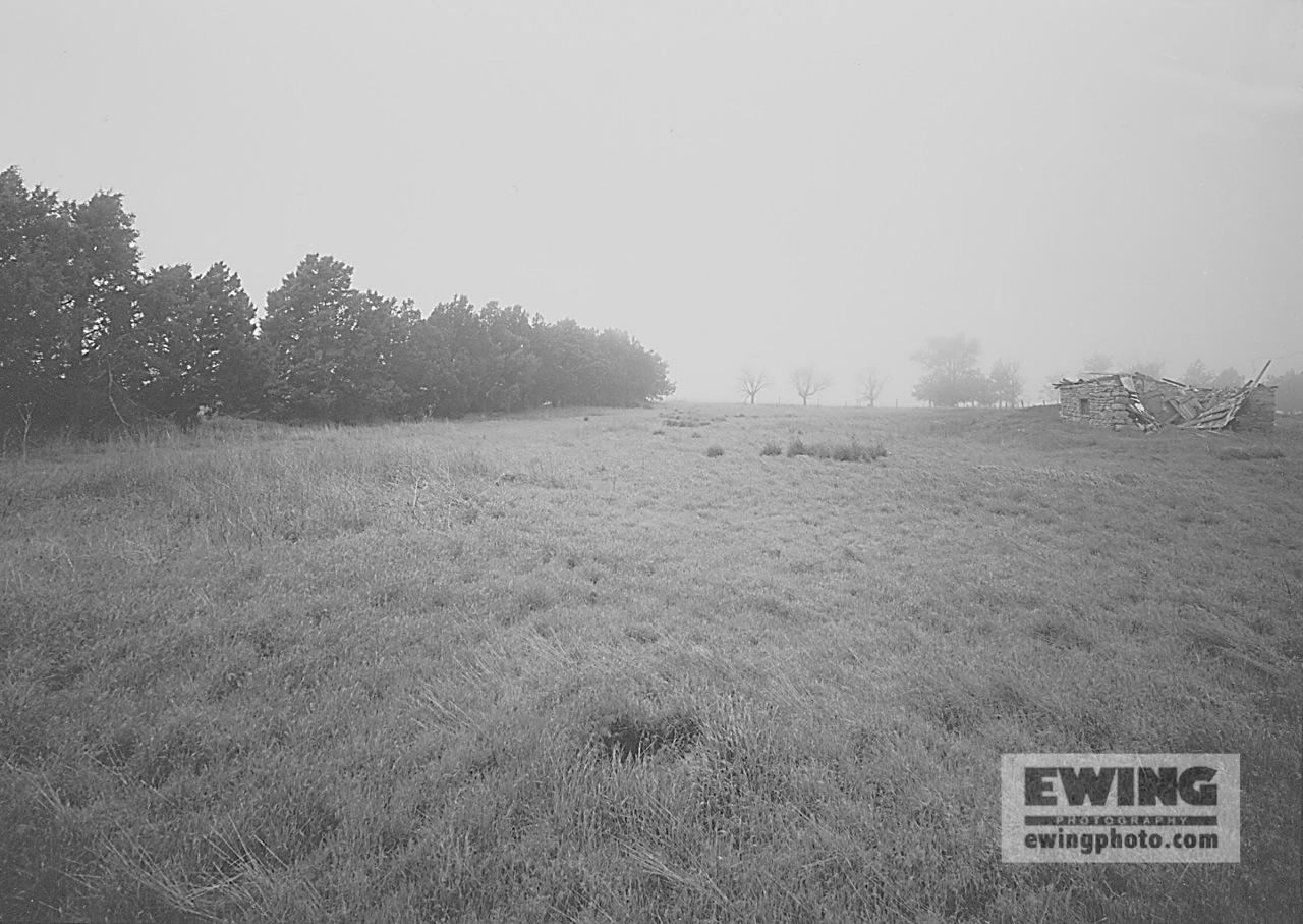 Fog, Abandoned Ranch Pawnee Grasslands, Colorado