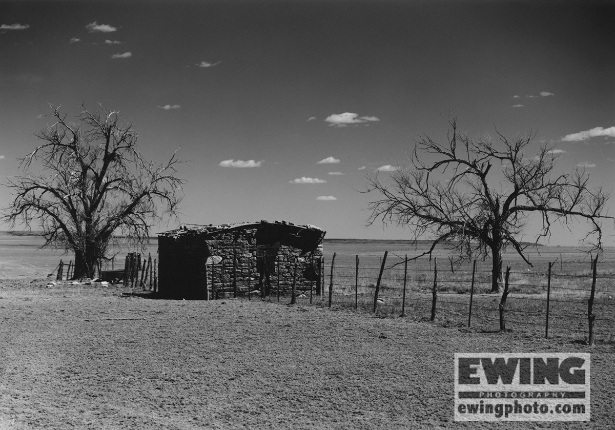 Stone house North of Farley, New Mexico