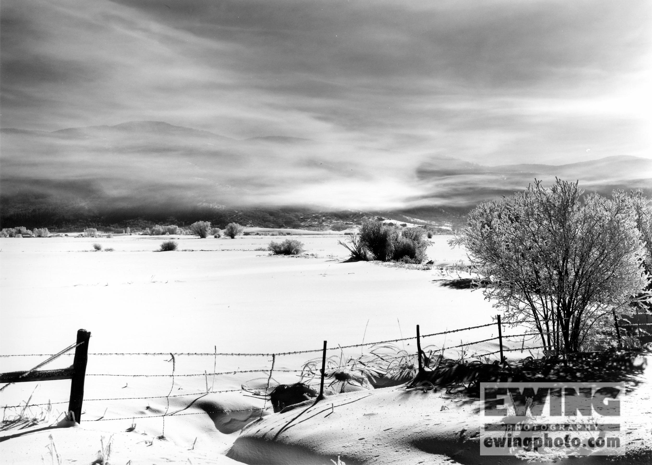 December Morning off Hwy 131 Steamboat Springs, Colorado