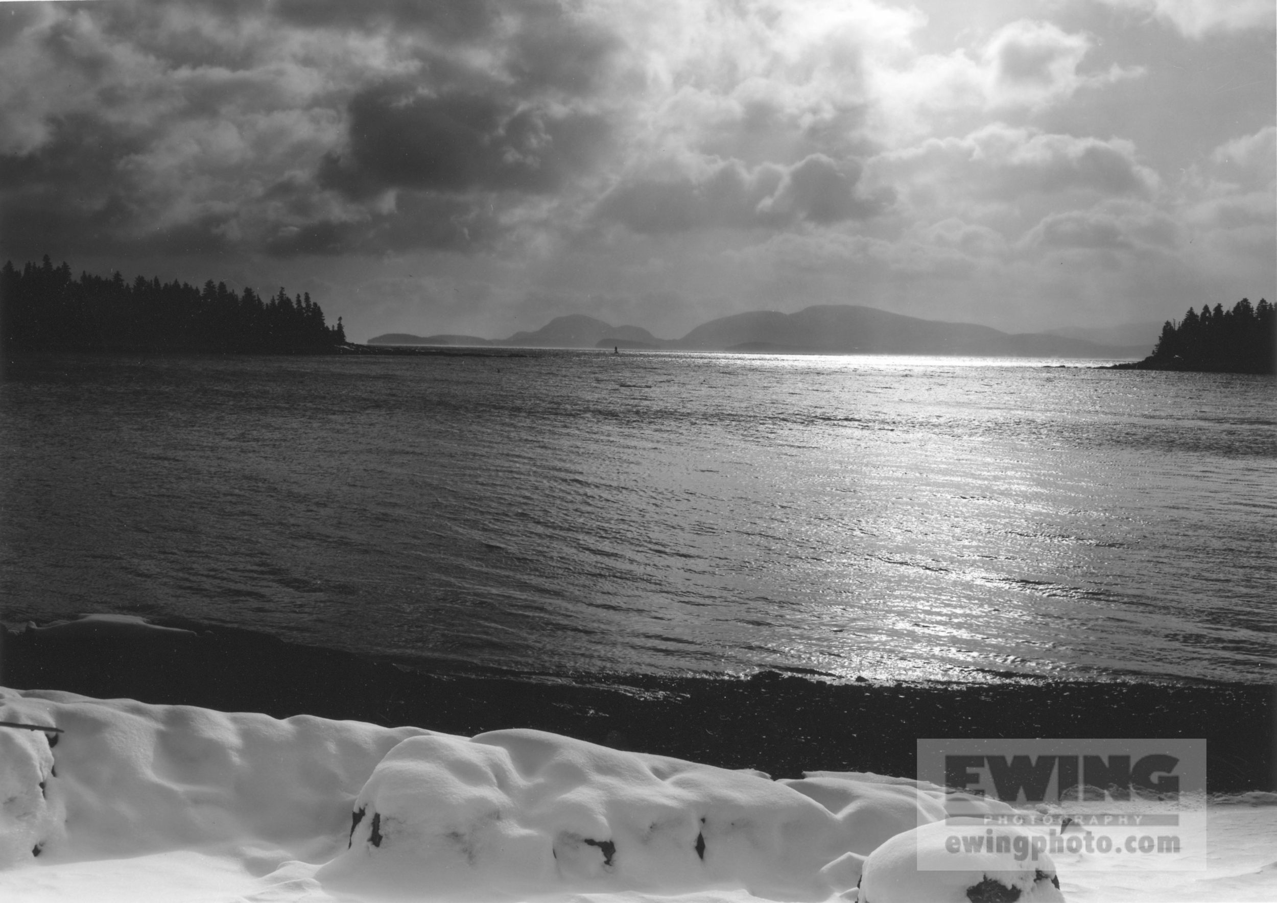 Solar Eclipse, Acadia NP Mountains Maine