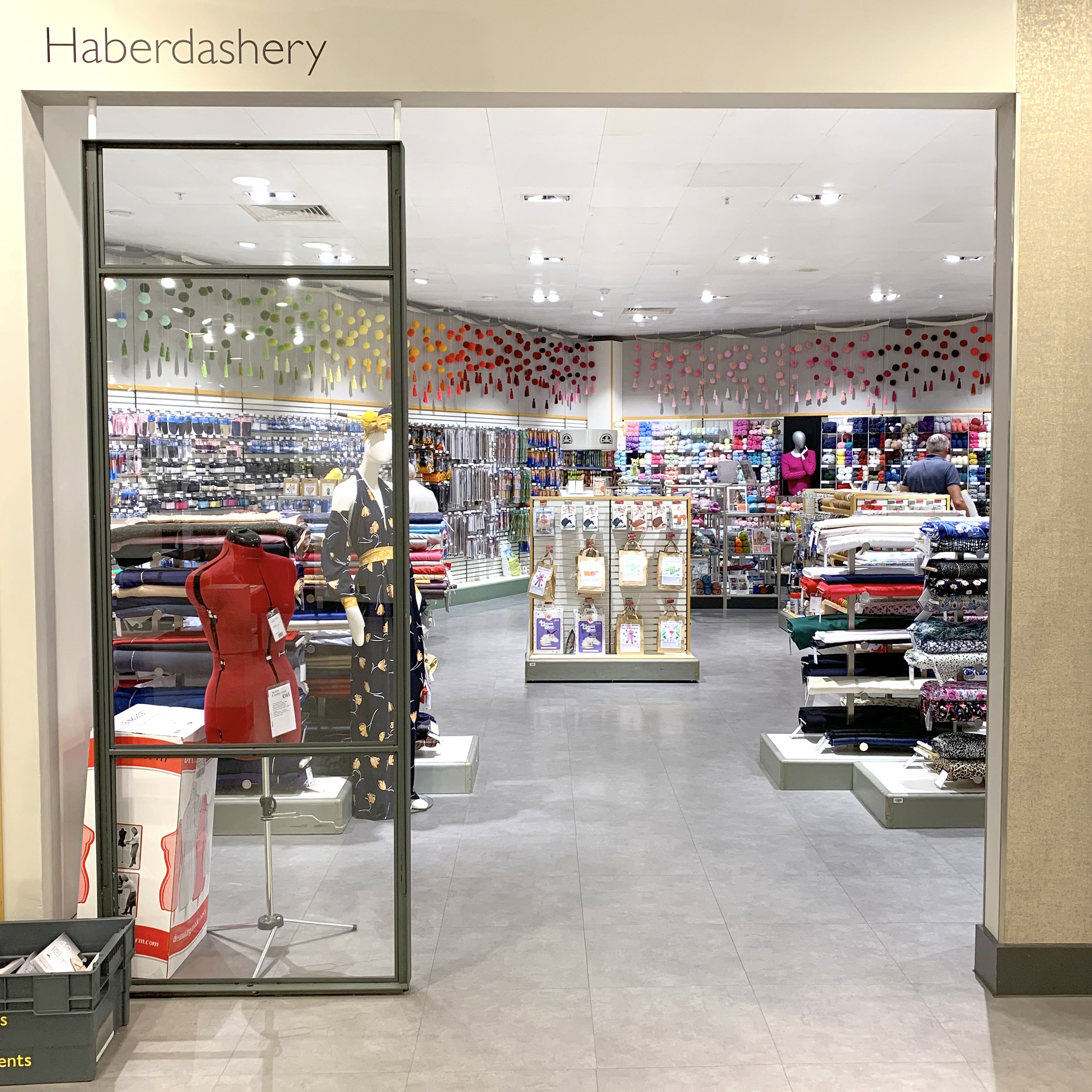 The Haberdashery department is on the Women's Accessories floor.