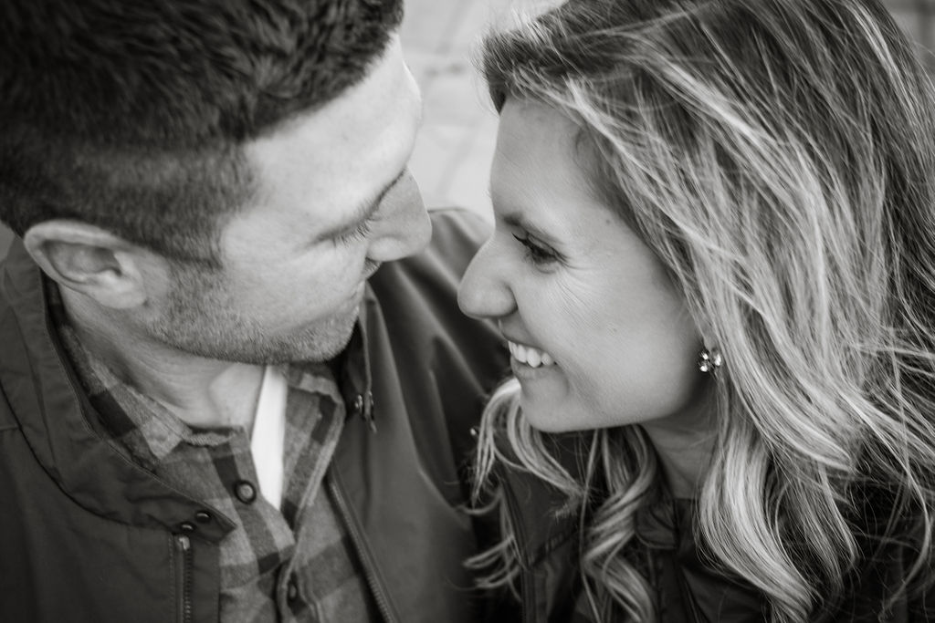 New Hampshire Couple Engagement B&W Photo | Mike Sears Photography