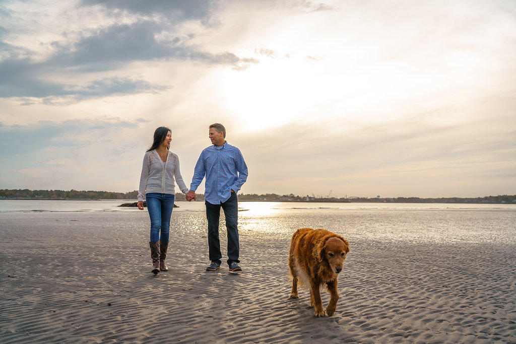New Hampshire Couple Beach Water Engagement | Mike Sears Photography