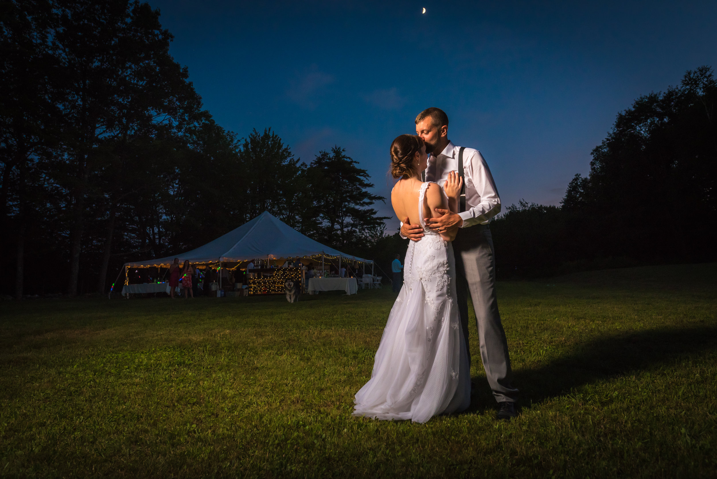 New Hampshire Bride Groom Photos Night | Mike Sears Photography