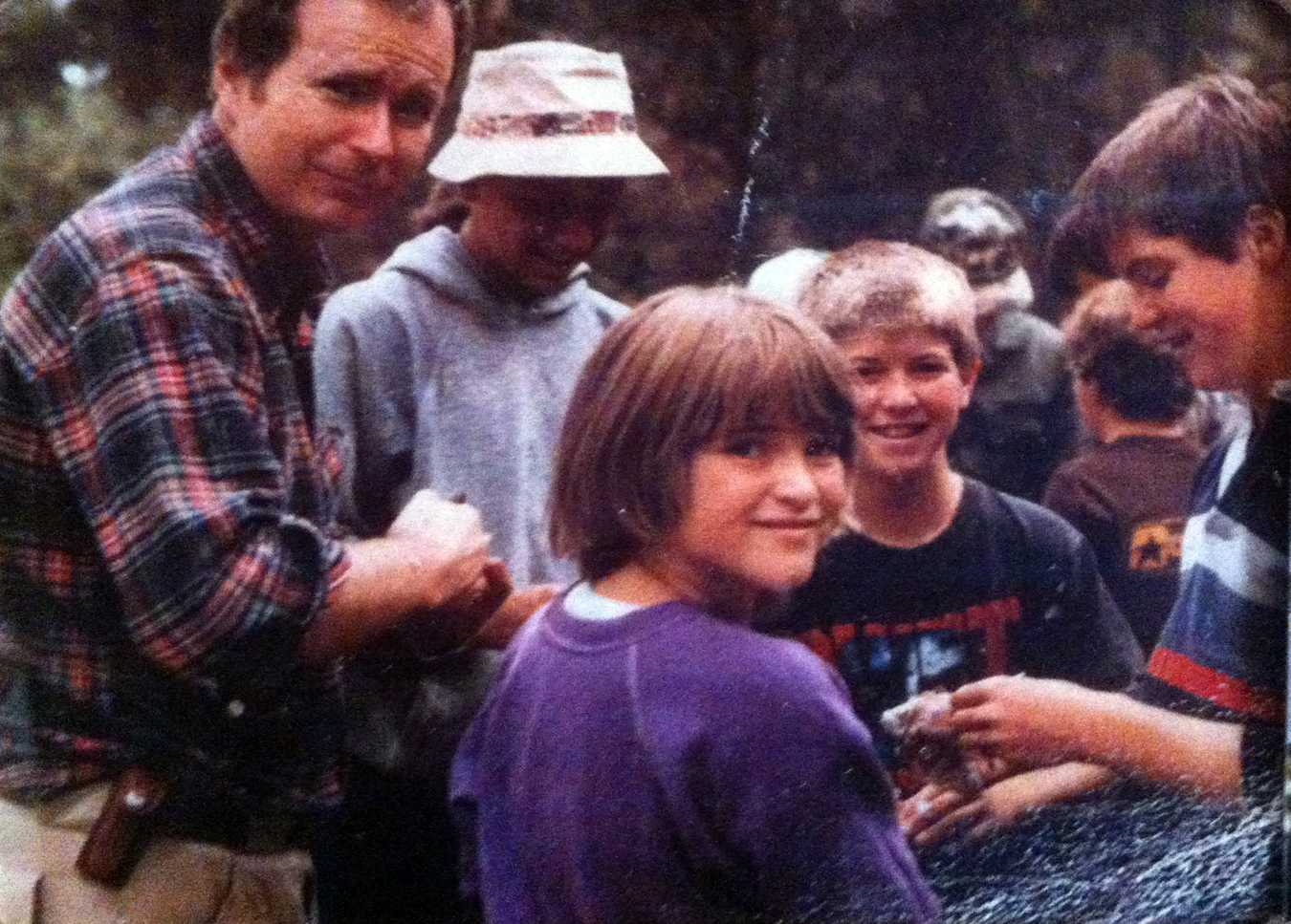 A handful of Whalens at the annual bird hunt in Esterbrook, WY, circa 1985.