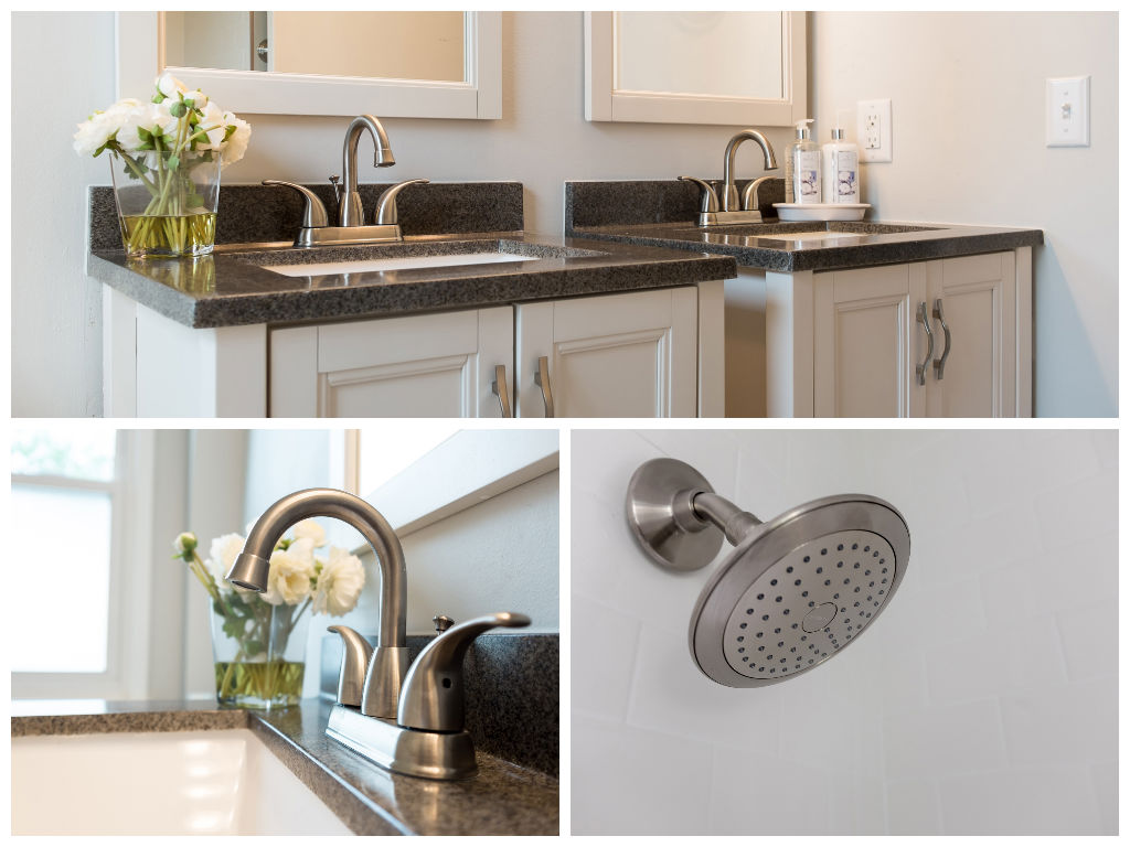Hall Bath stainless finishes