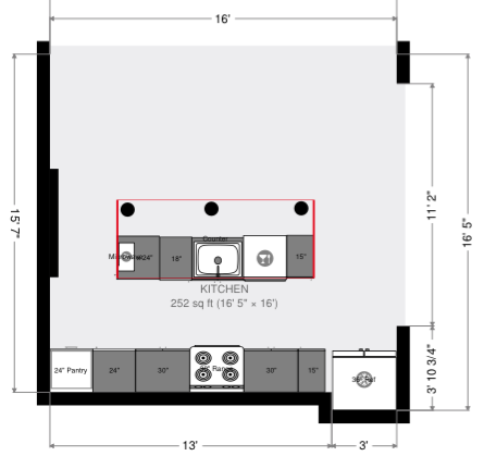 Loft Kitchen Blueprint
