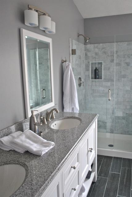 marble bathroom gray