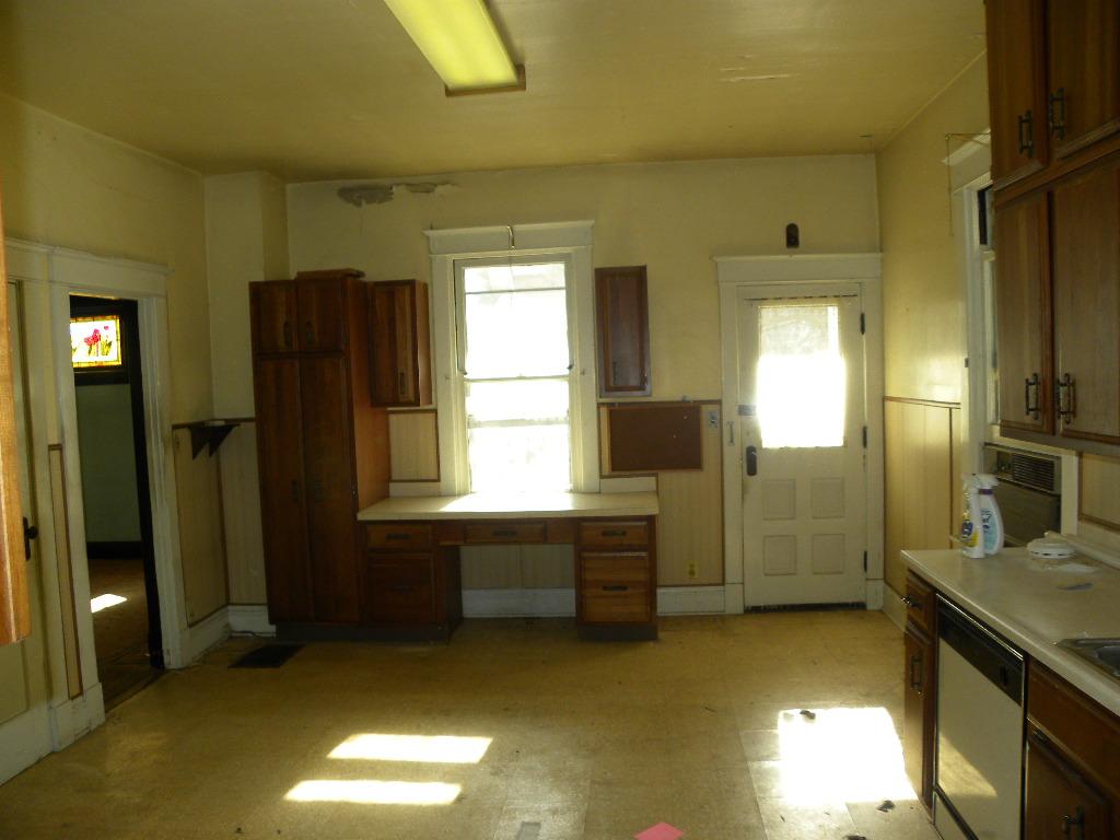 Before White Rustic Kitchen Renovation
