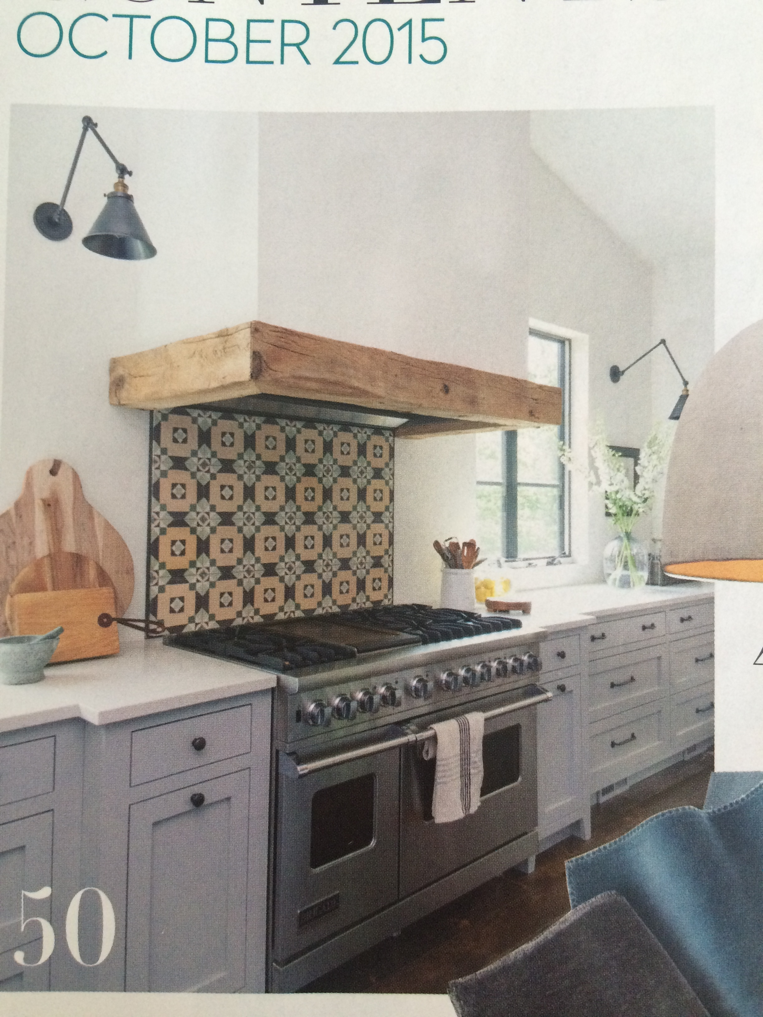 Cement tile Backsplash House & Home Oct 2015