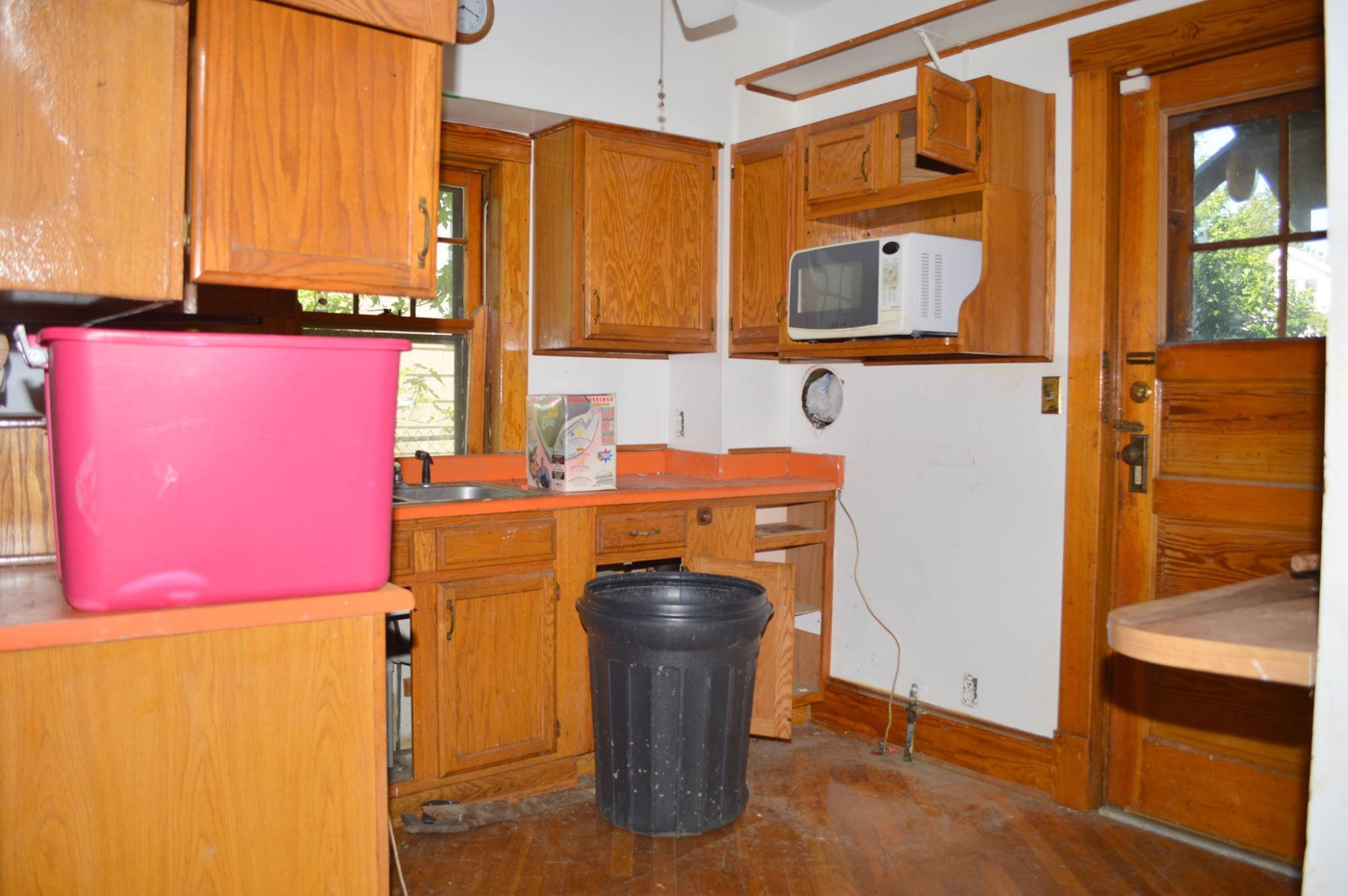 Kitchen Before with Oak Cabinets