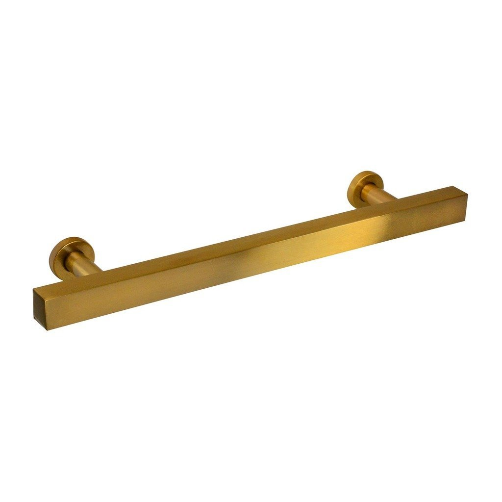 Hampton Collection Bar Pull, Amber Gold - 10 Pack Modern Brass Pull Cabinet