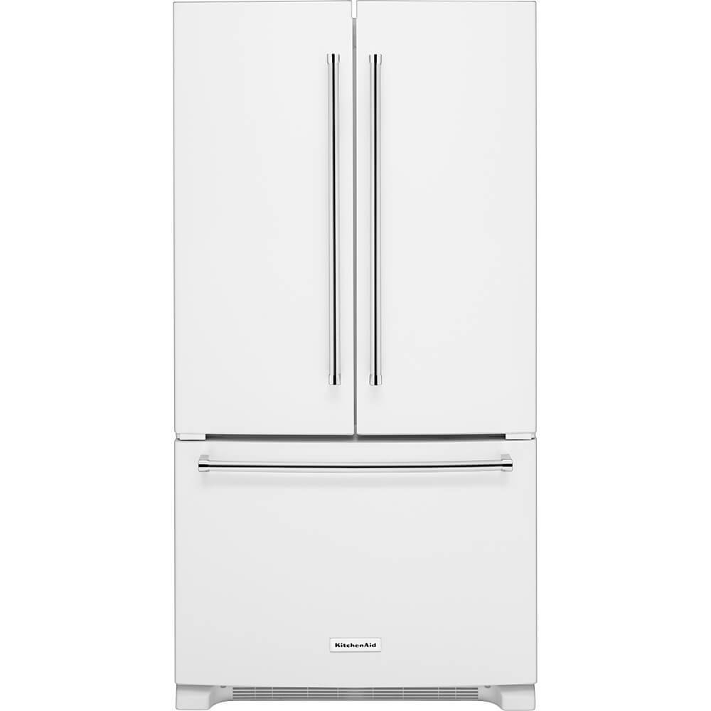 White Kitchenaid Fridge