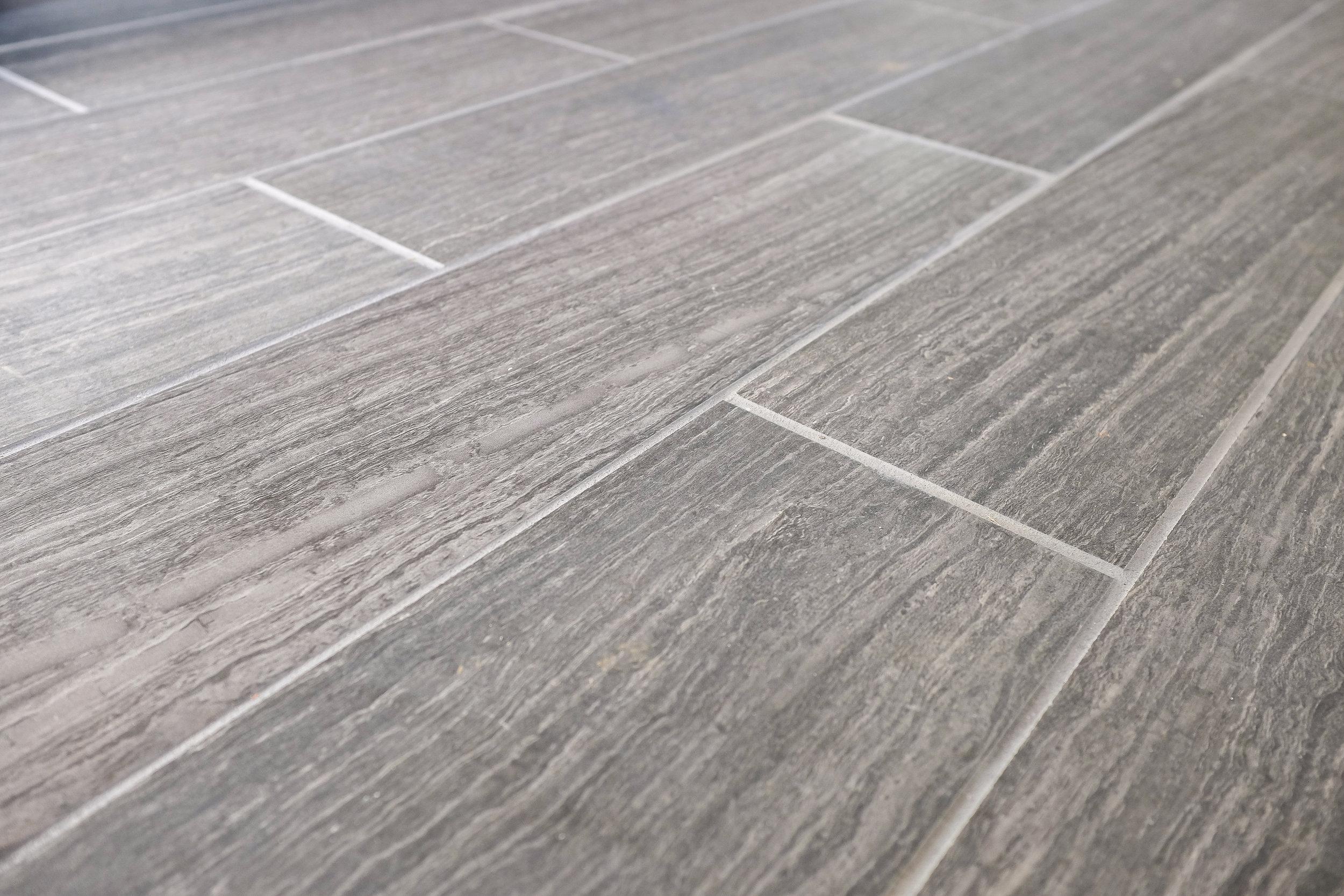 Gray plank tile