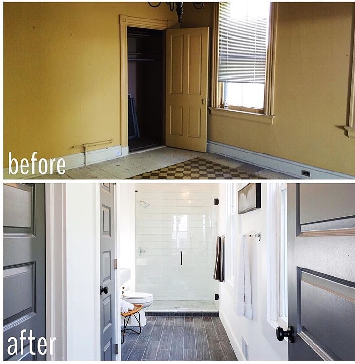 Shiplap Shower Bath Before & After