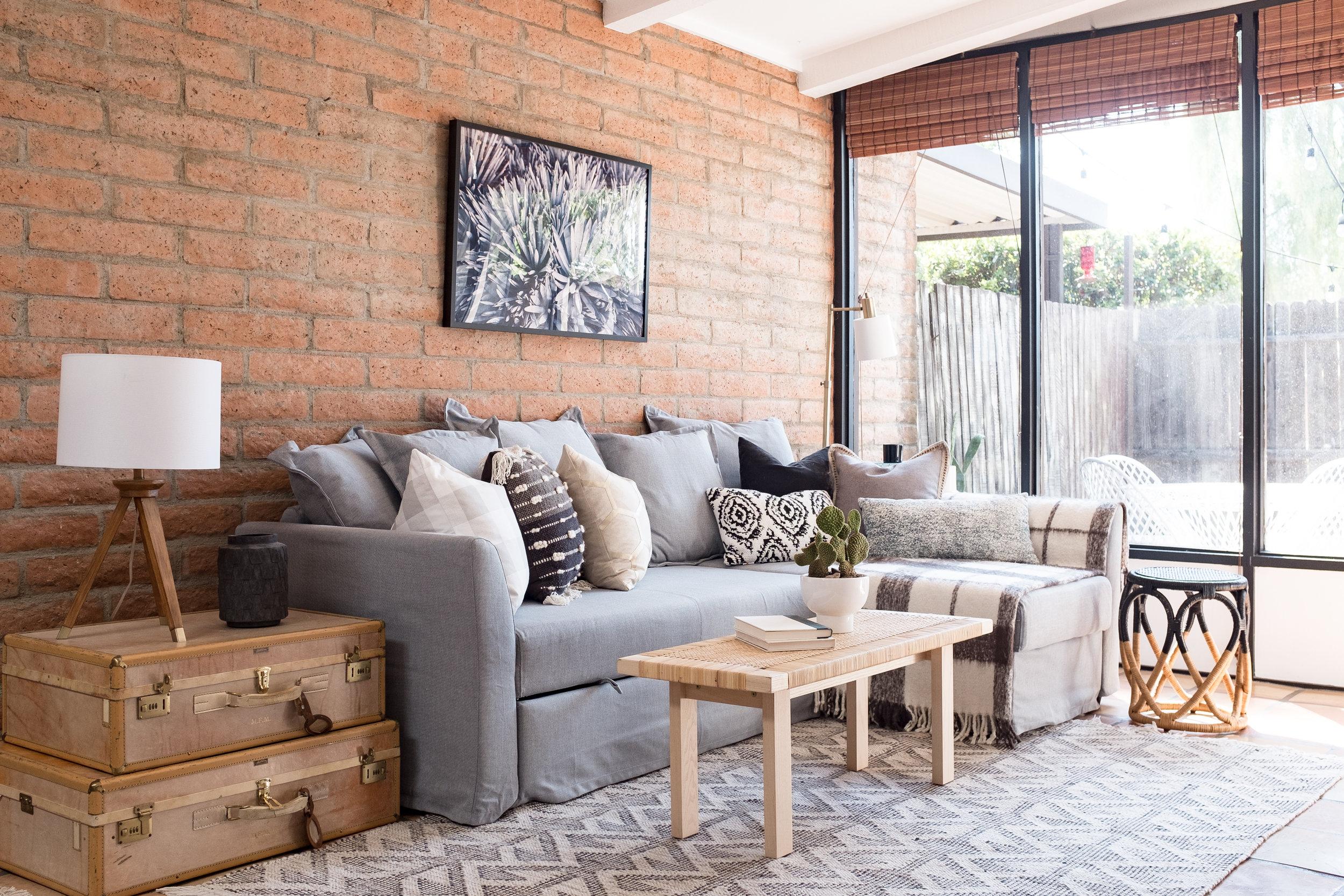 Shop The Cozy Cactus Airbnb Phoenix Condo Living Room