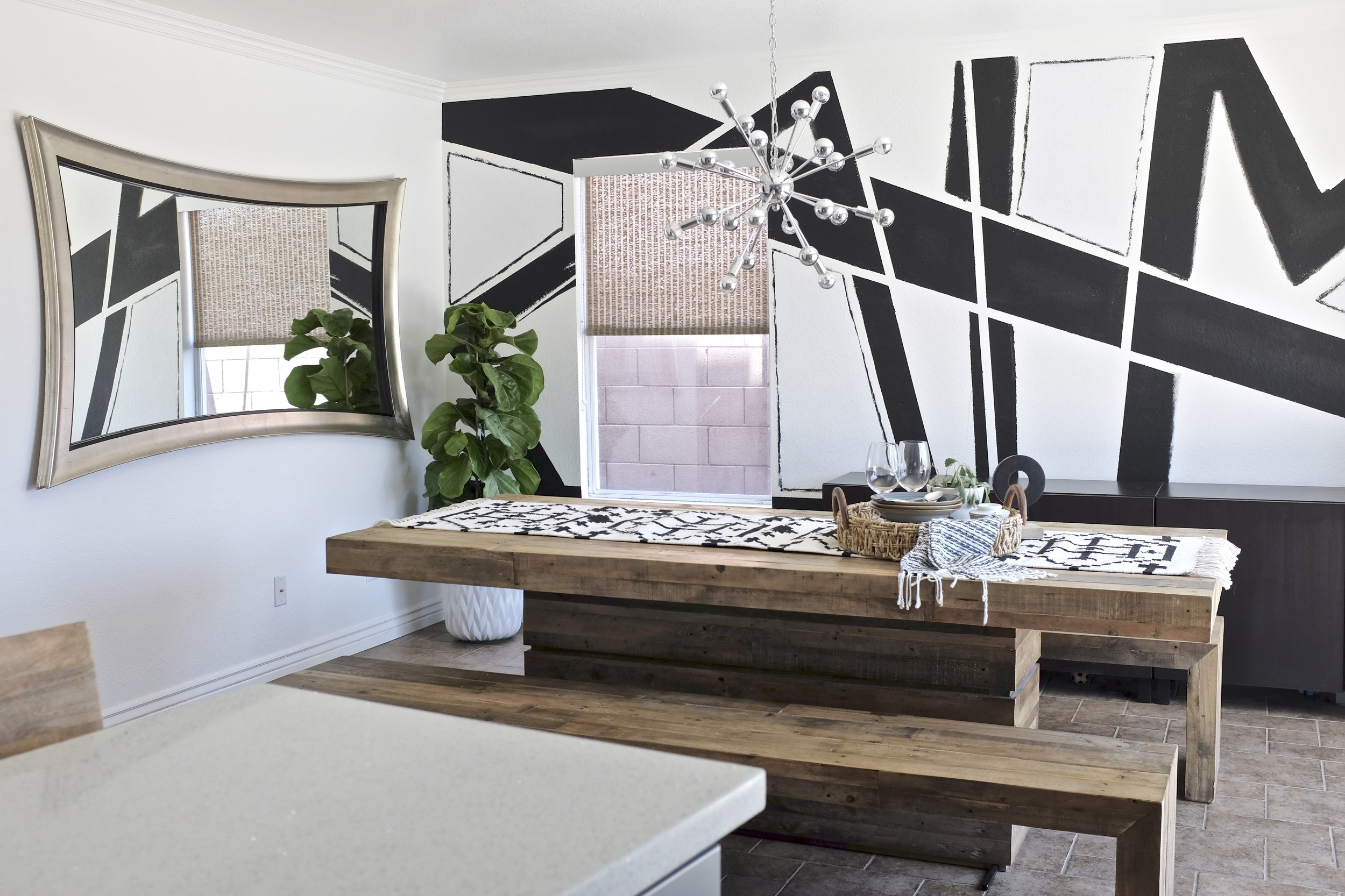 Abstract Accent Wall Dining Room Shop The Room