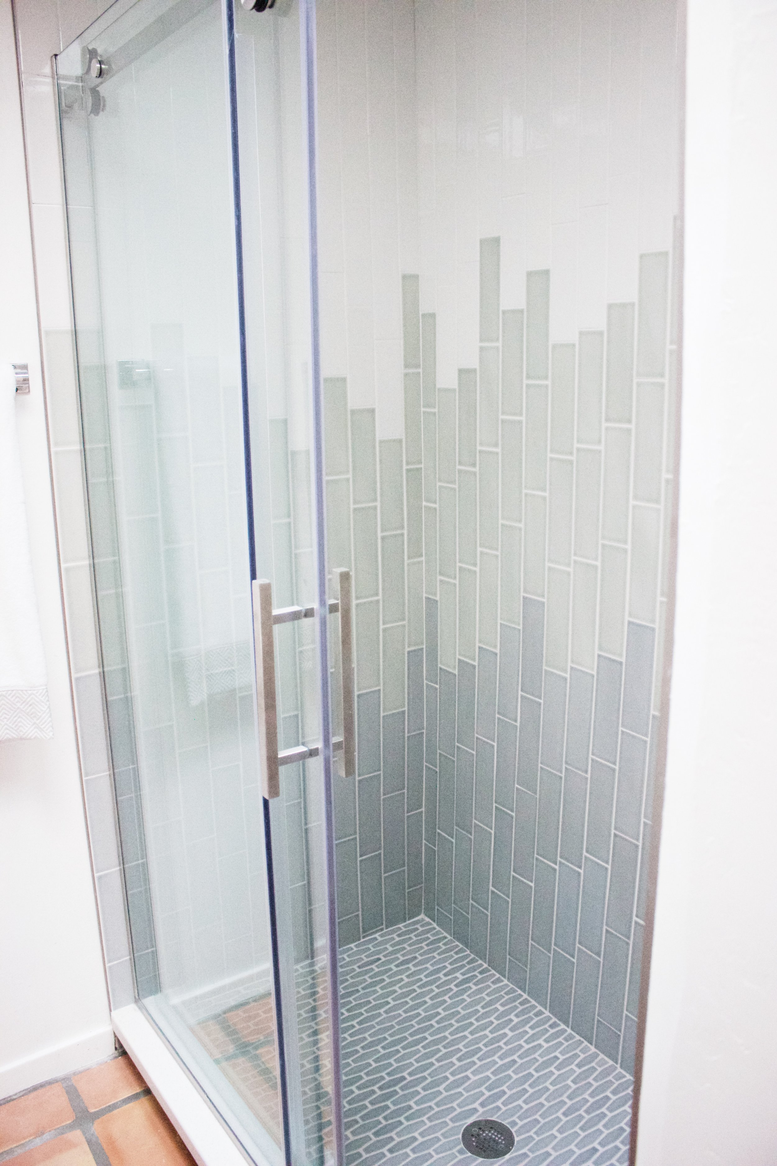 Ombre Shower Wall Subway Tile