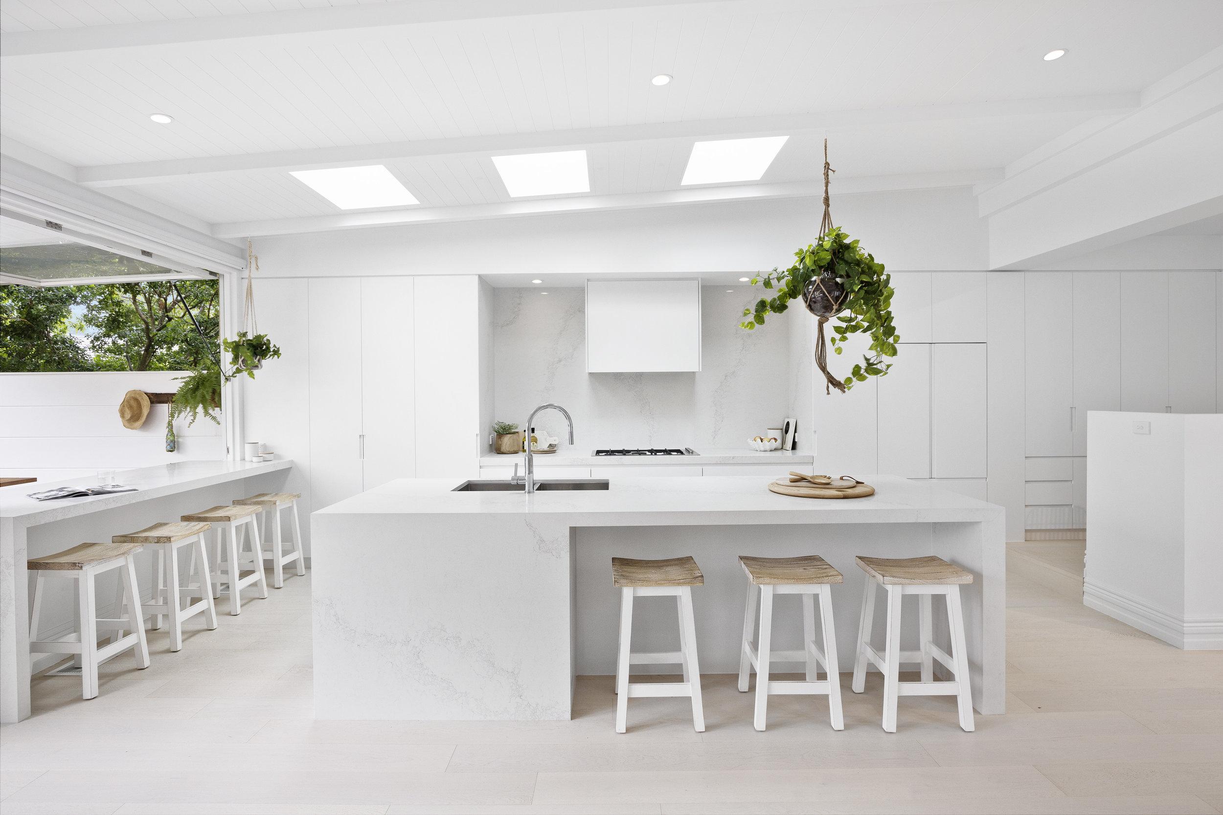 Three Birds Renovations Lana's Kitchen with Hanging Plant