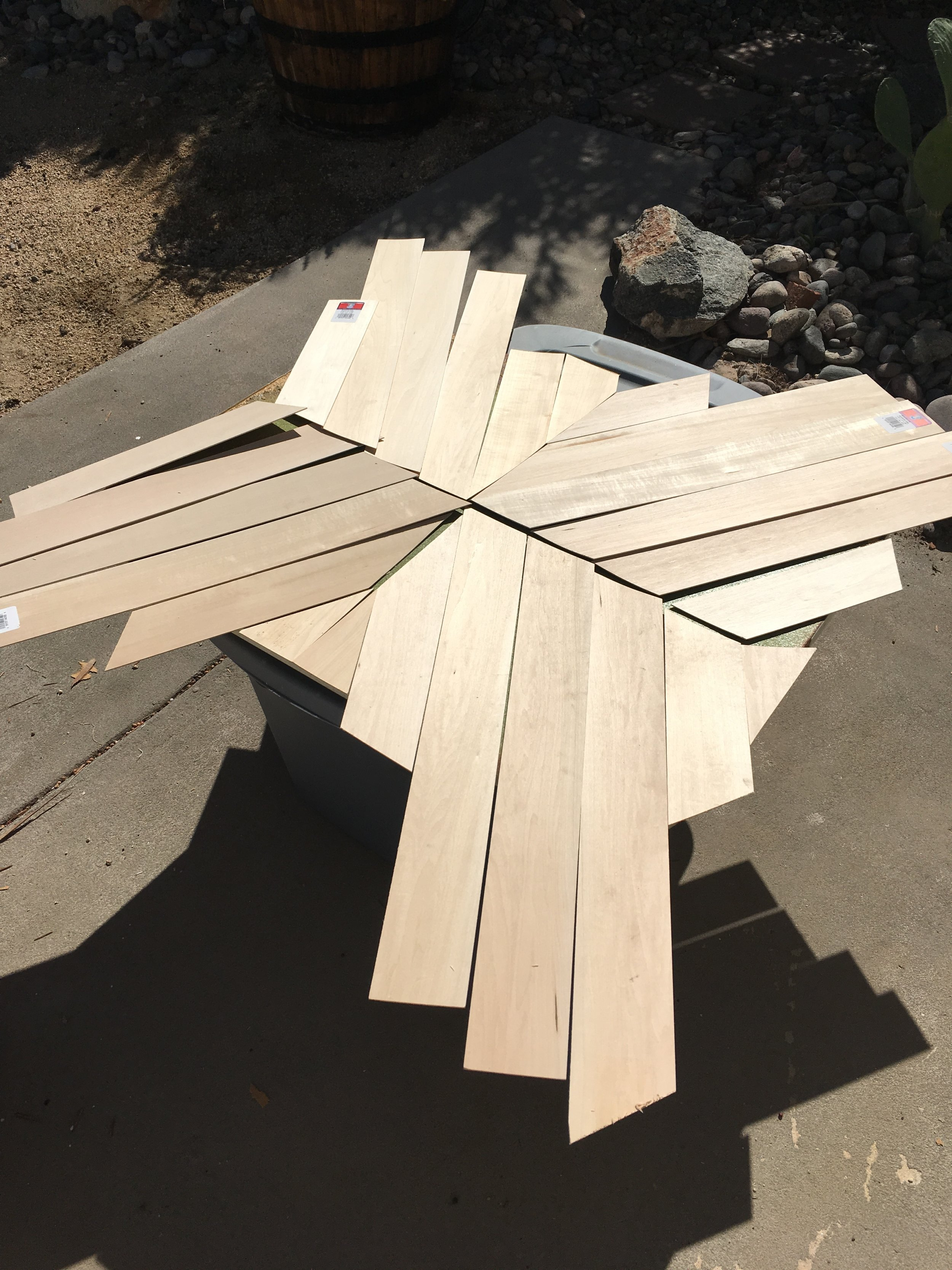 Full angled cuts made for geo table