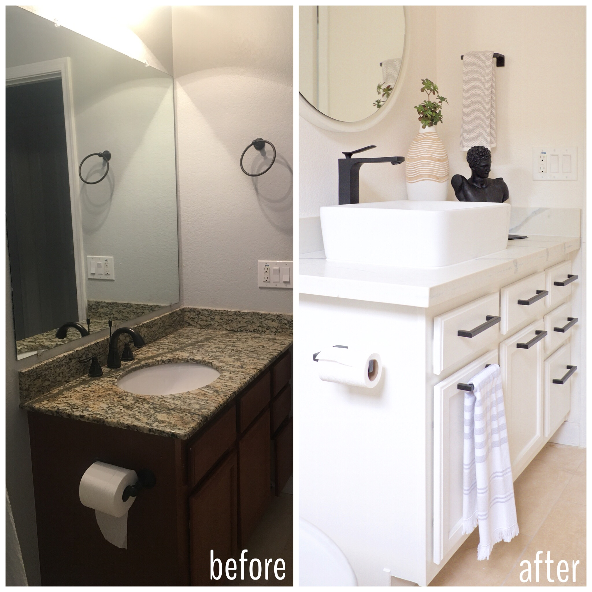 Before And After FlippinWendy Makeover bathroom travertine