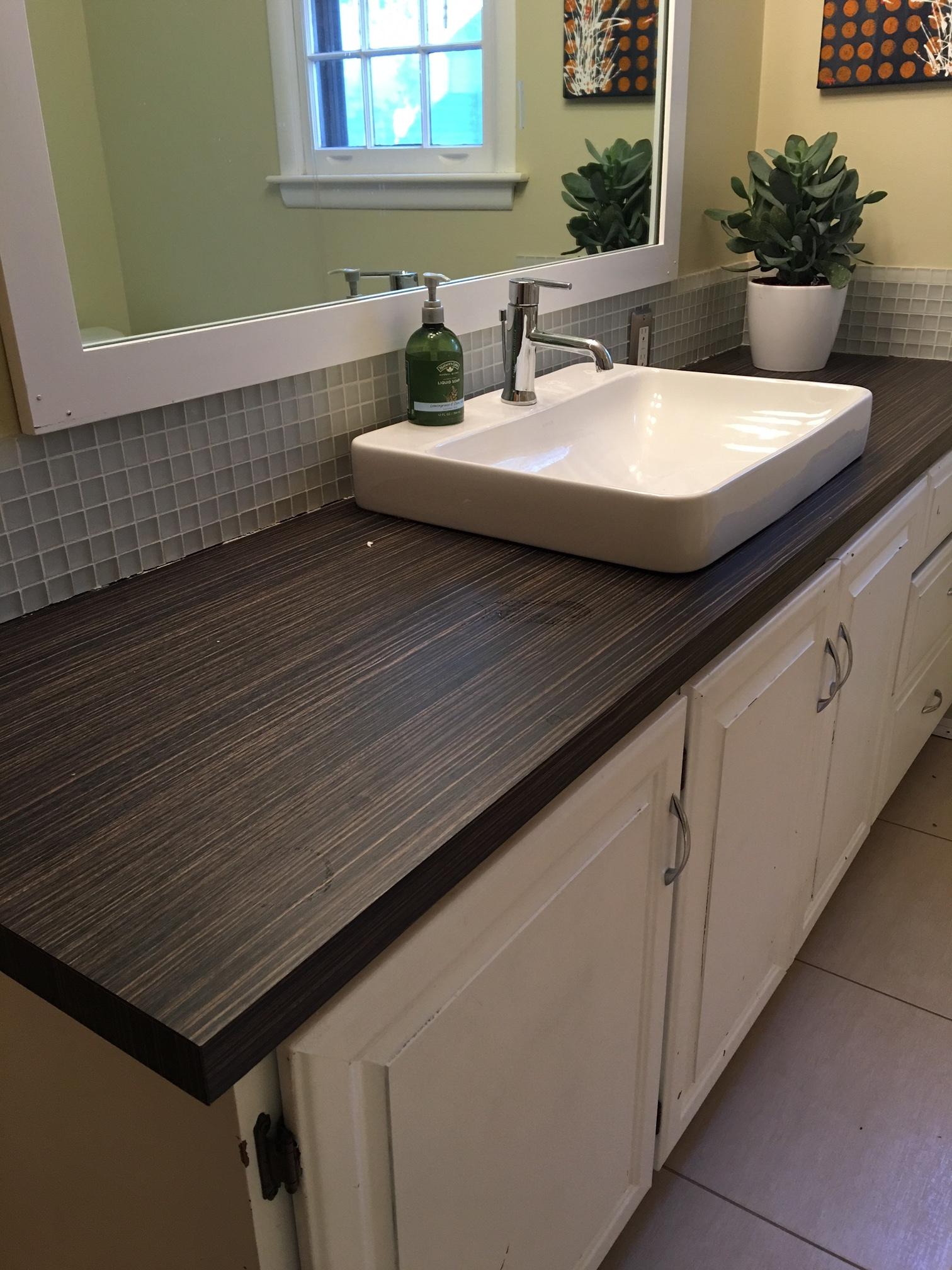 Bathroom IKEA counter before