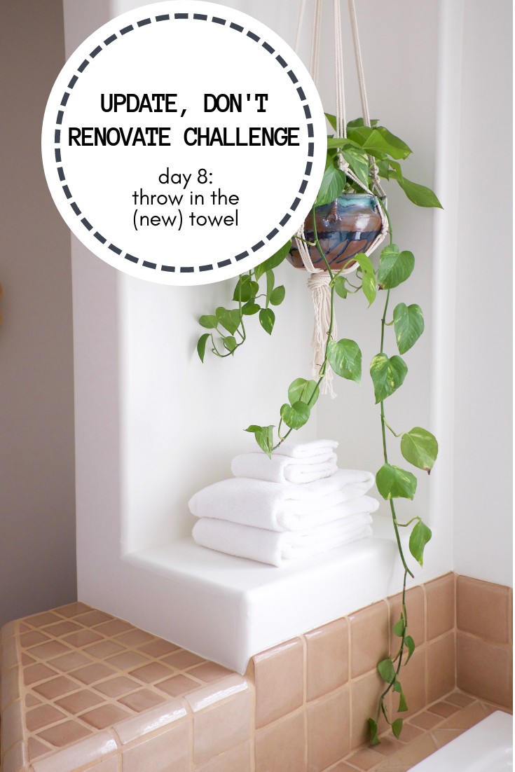 Update, Don't Renovate Challenge DAY 8: Throw in the (new) Towel
