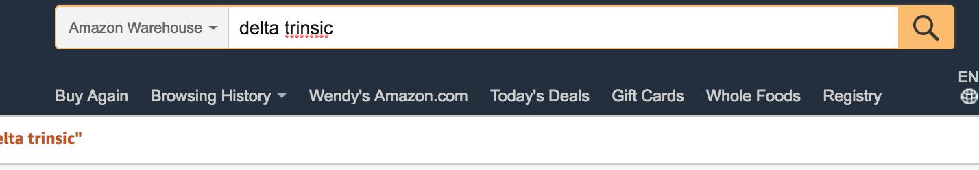 Amazon Warehouse search bar