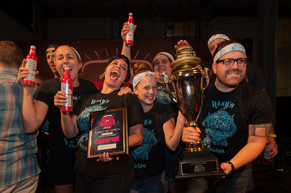 Our team taking home the Boston Burger Battle win in 2017