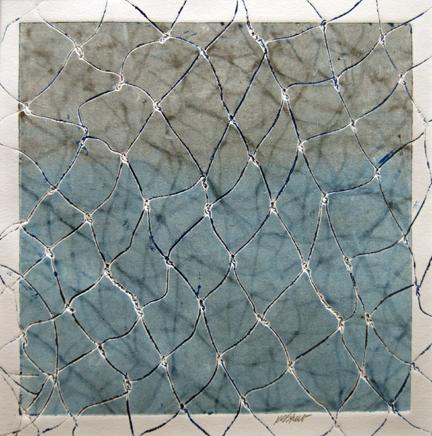 "Kristin Street, ""Wire Works Shadows,"" Monotype, 6 x 6\"
