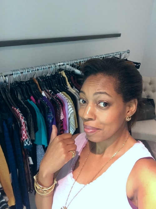 #stylistselfie in the dressing room before my client arrives. I never get tired of hearing, All of this, is...for me?? Yep!