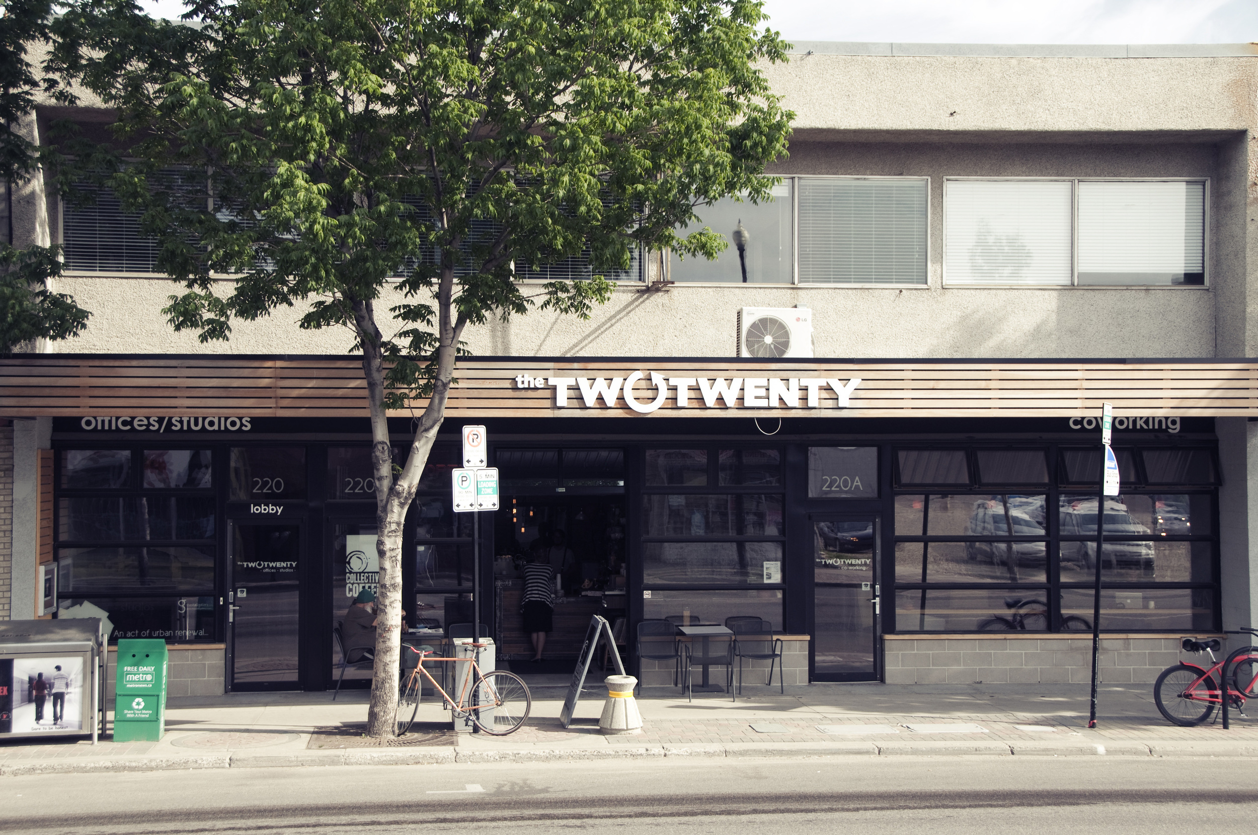 We cowork at The Two Twenty in Riversdale, Saskatoon,  among a fantastic community of entrepreneurs, artists, thinkers, makers and doers.