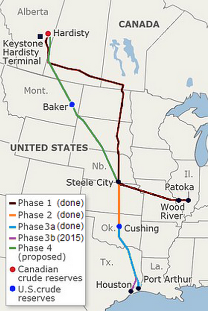 Source : TransCanada 'Keystone Pipeline System'