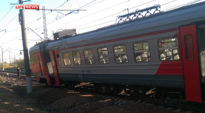 Wagon leaves the rails in Moscow Suburbs . 26 September 2015. (and, in case you are wondering, no-one was hurt.)