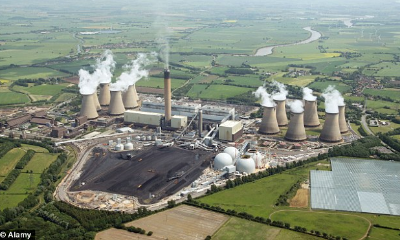 Drax Power Station.    Source   : Hull Daily Mail.