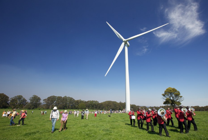 Source :    Australia's first community-owed wind farm:  Hepburn Wind .