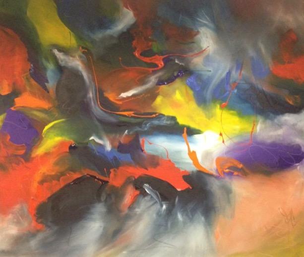 pleasure  180 x 130 centimetres acrylic on canvas