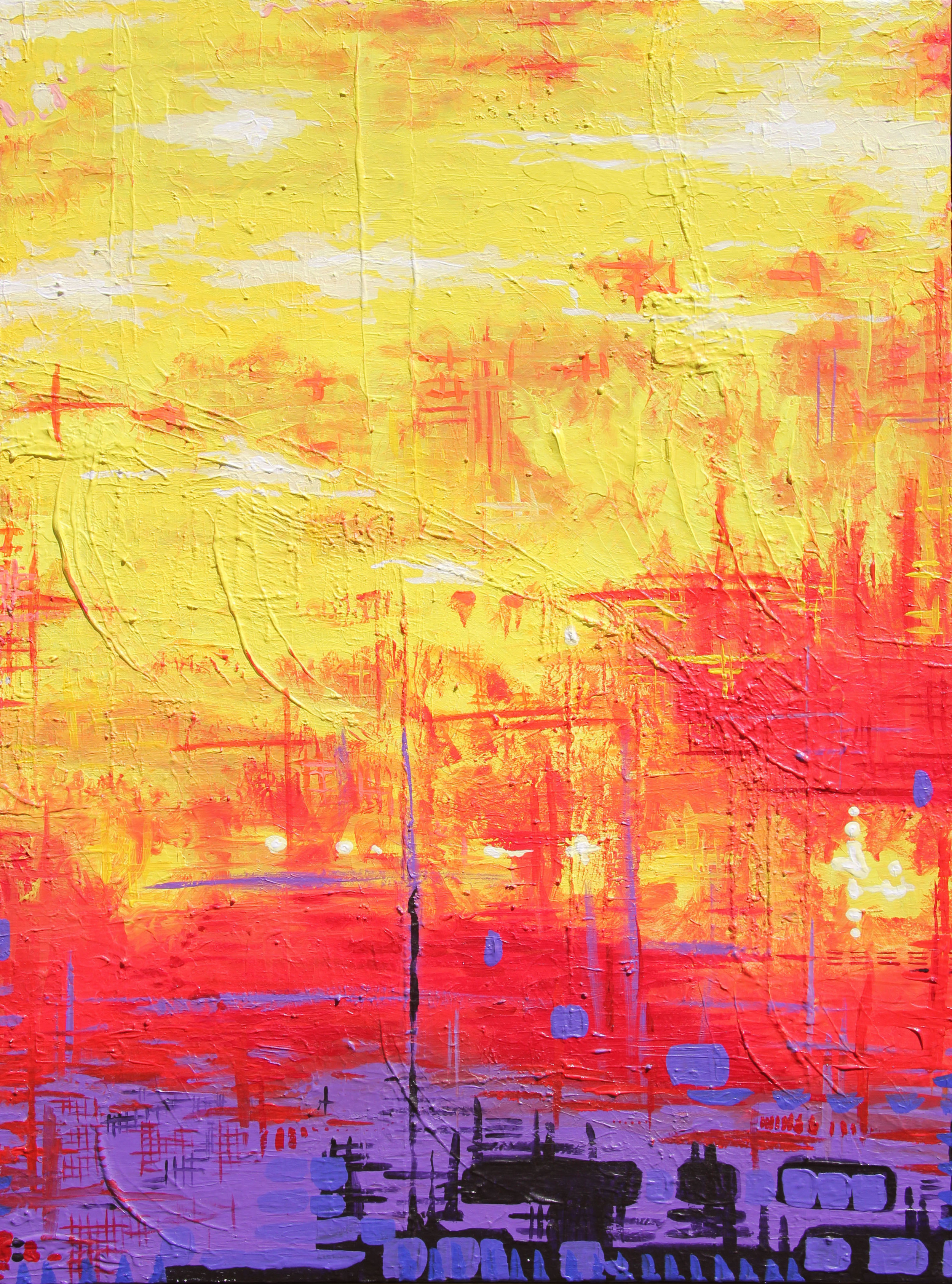 """gomorra    30"""" x 40""""  acrylic, gesso, and course texture gel on canvas  2012-2014"""