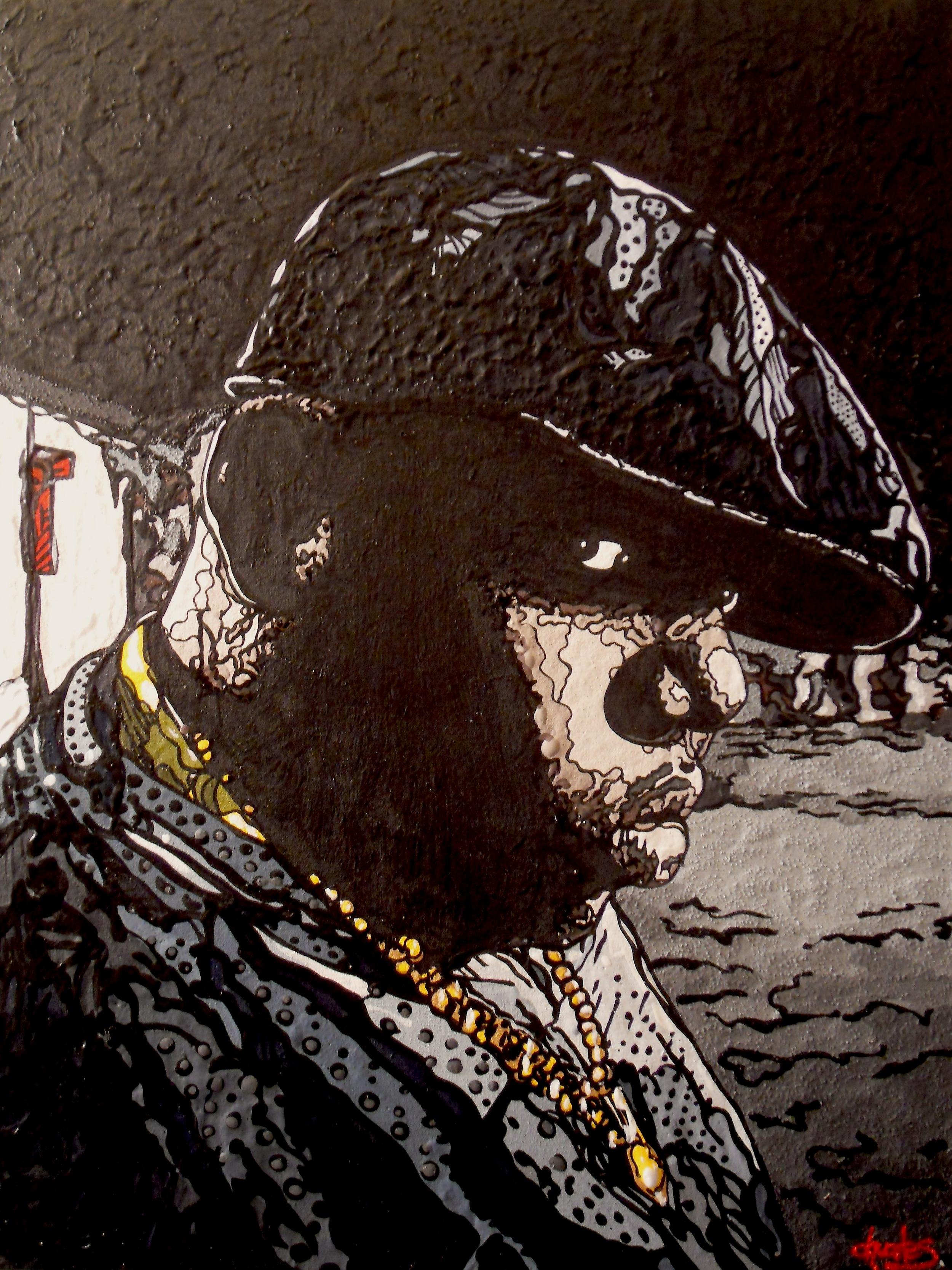 "Biggie   2014 acrylic on canvas 18"" x 24"""
