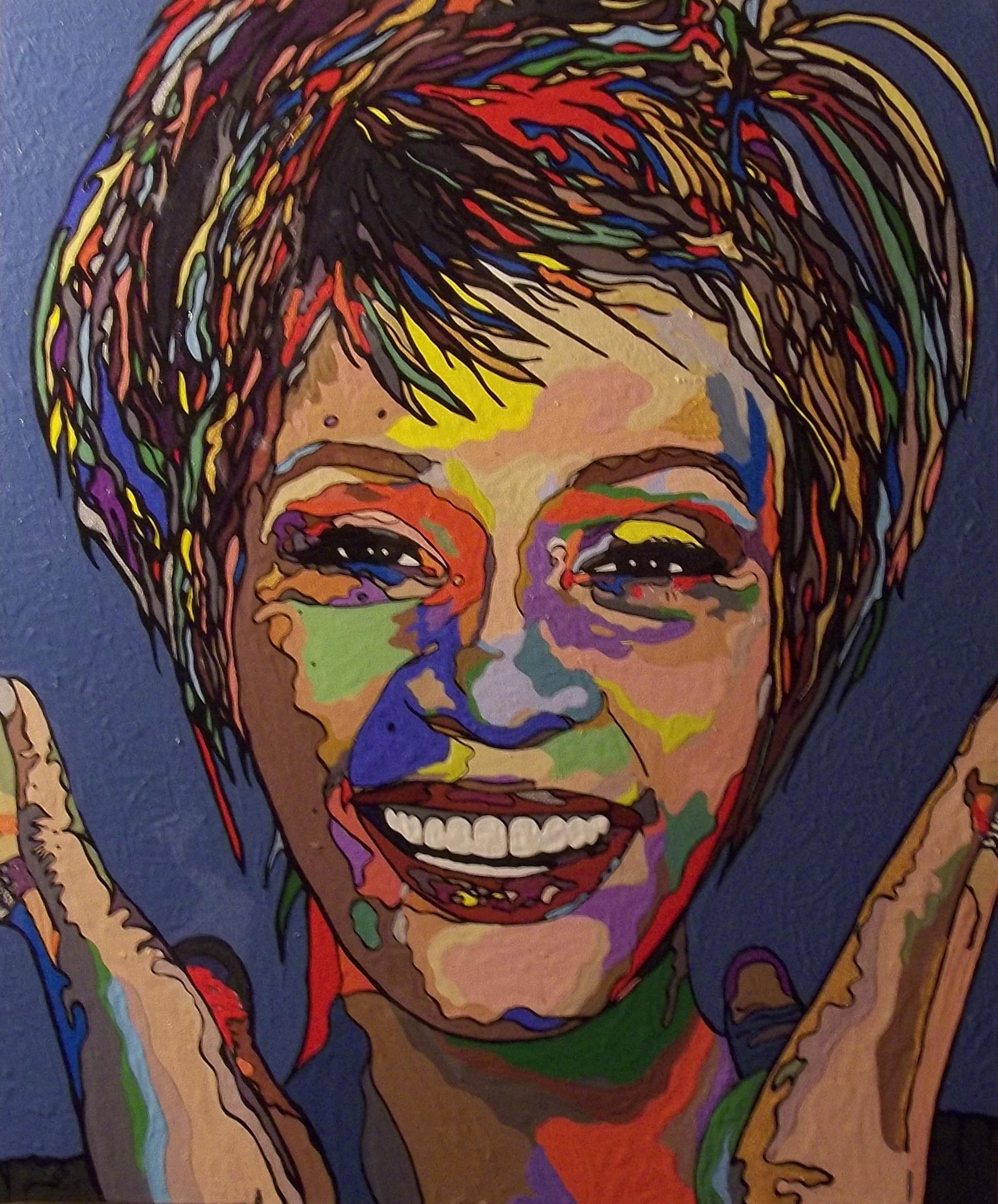 """Whitney Houston  2014 acrylic on canvas 30"""" x 40"""""""