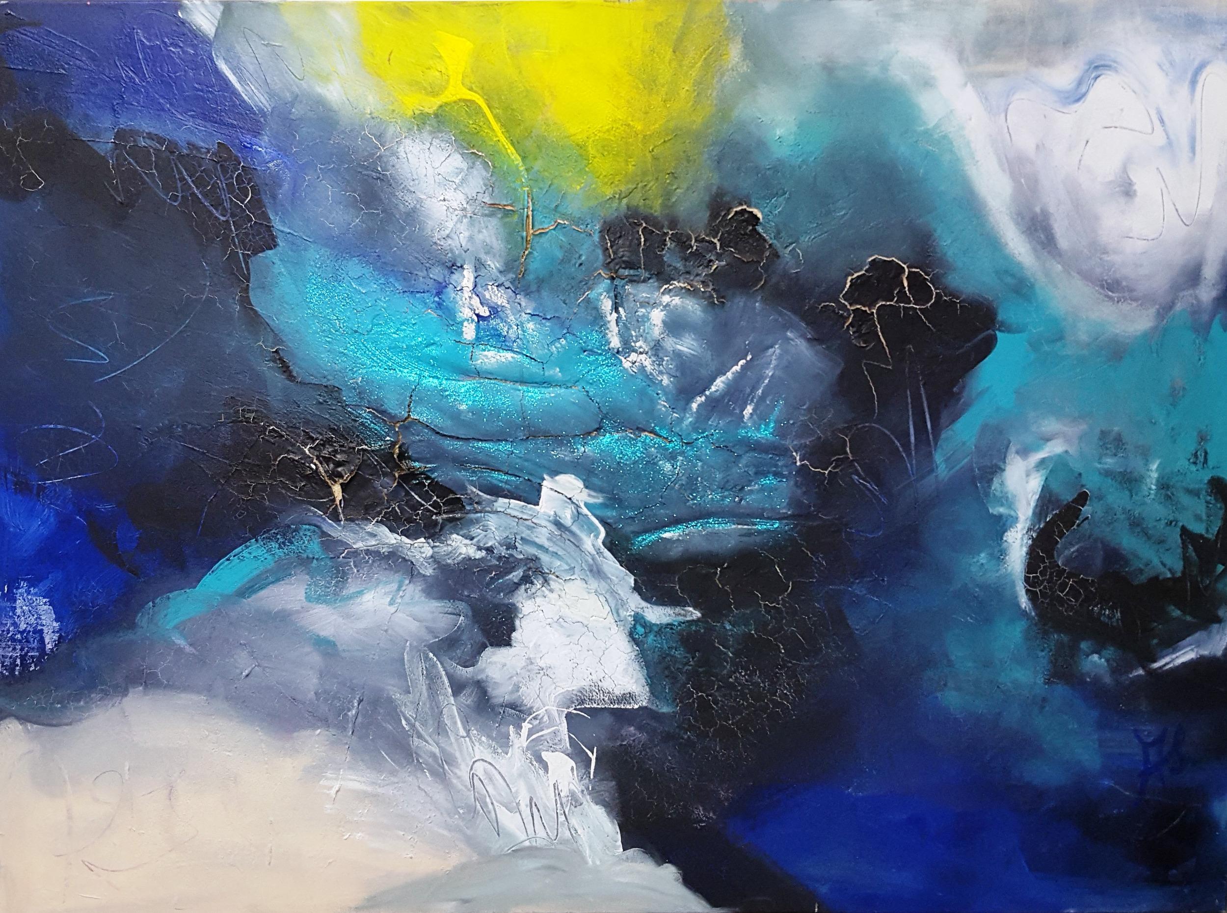 Angel   2009 acrylic & sand on canvas 180cm x 130cm