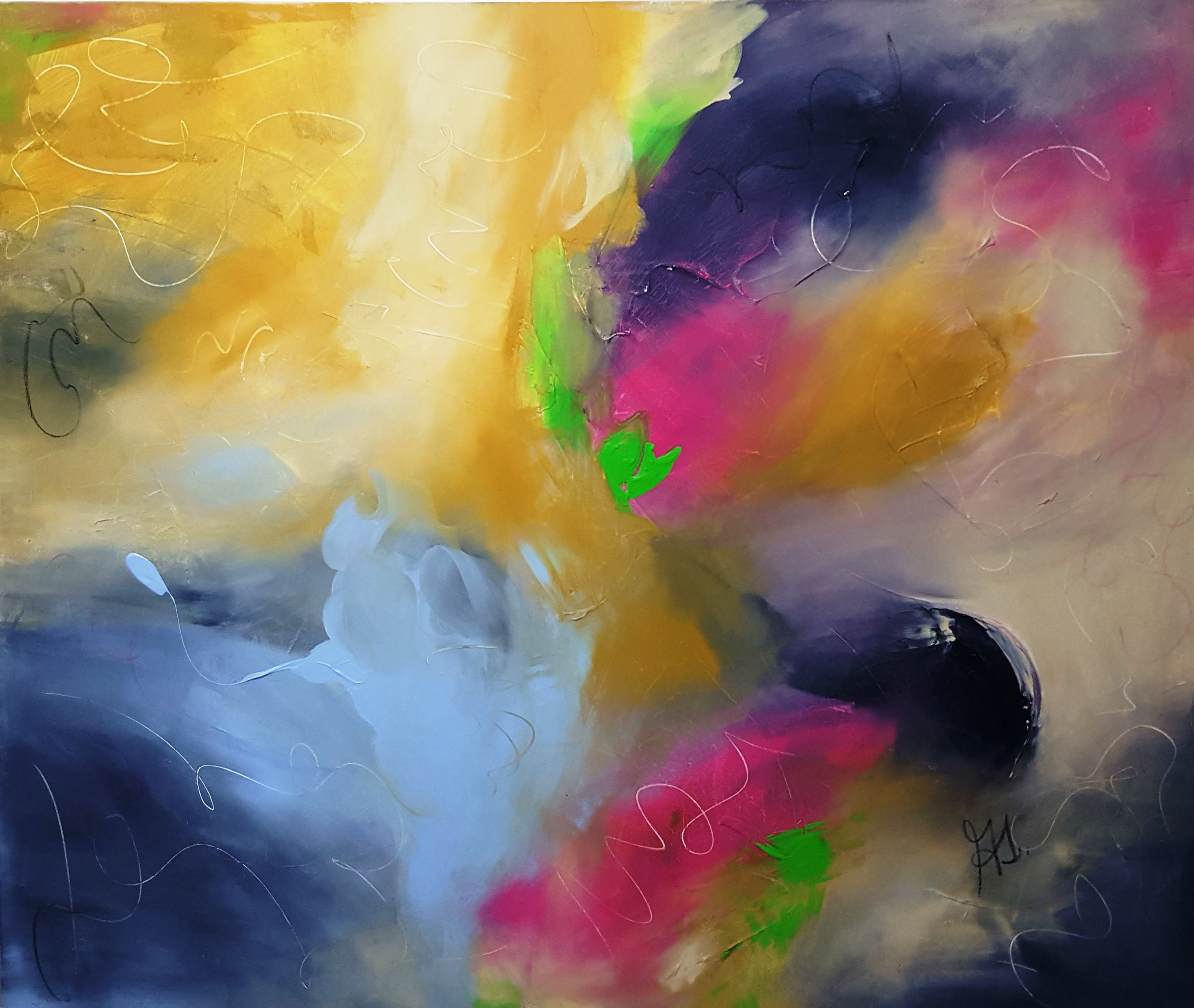 The Sky   2009 acrylic on canvas 190cm x 160cm