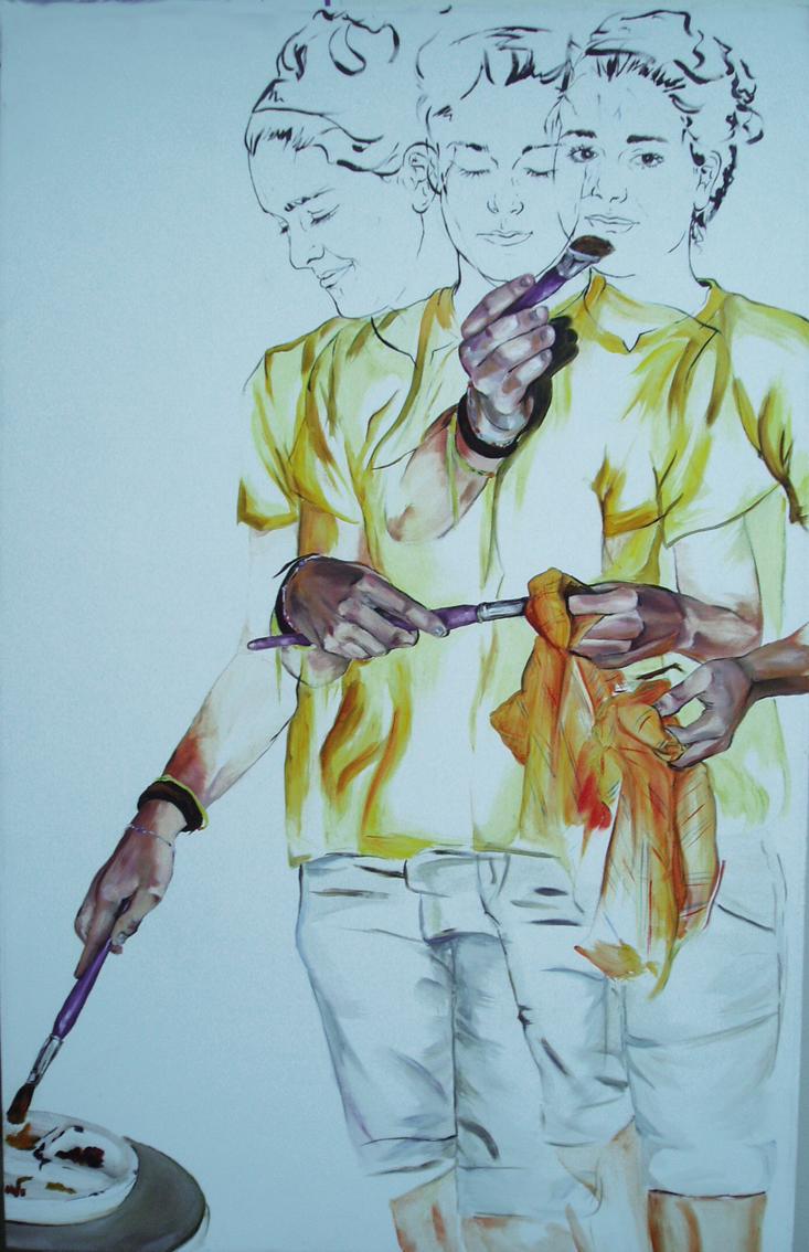 Autorretrato  oil on canvas 2010 145,5 x 90 cm