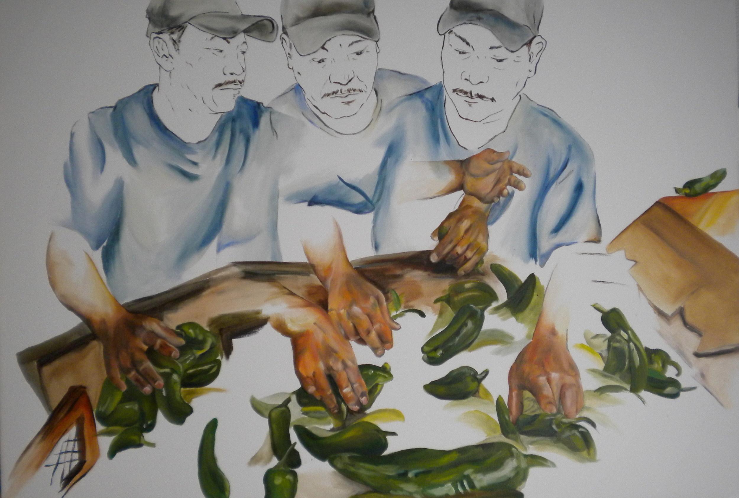 Chile Verde  2010 oil on canvas 92 x 140 cm