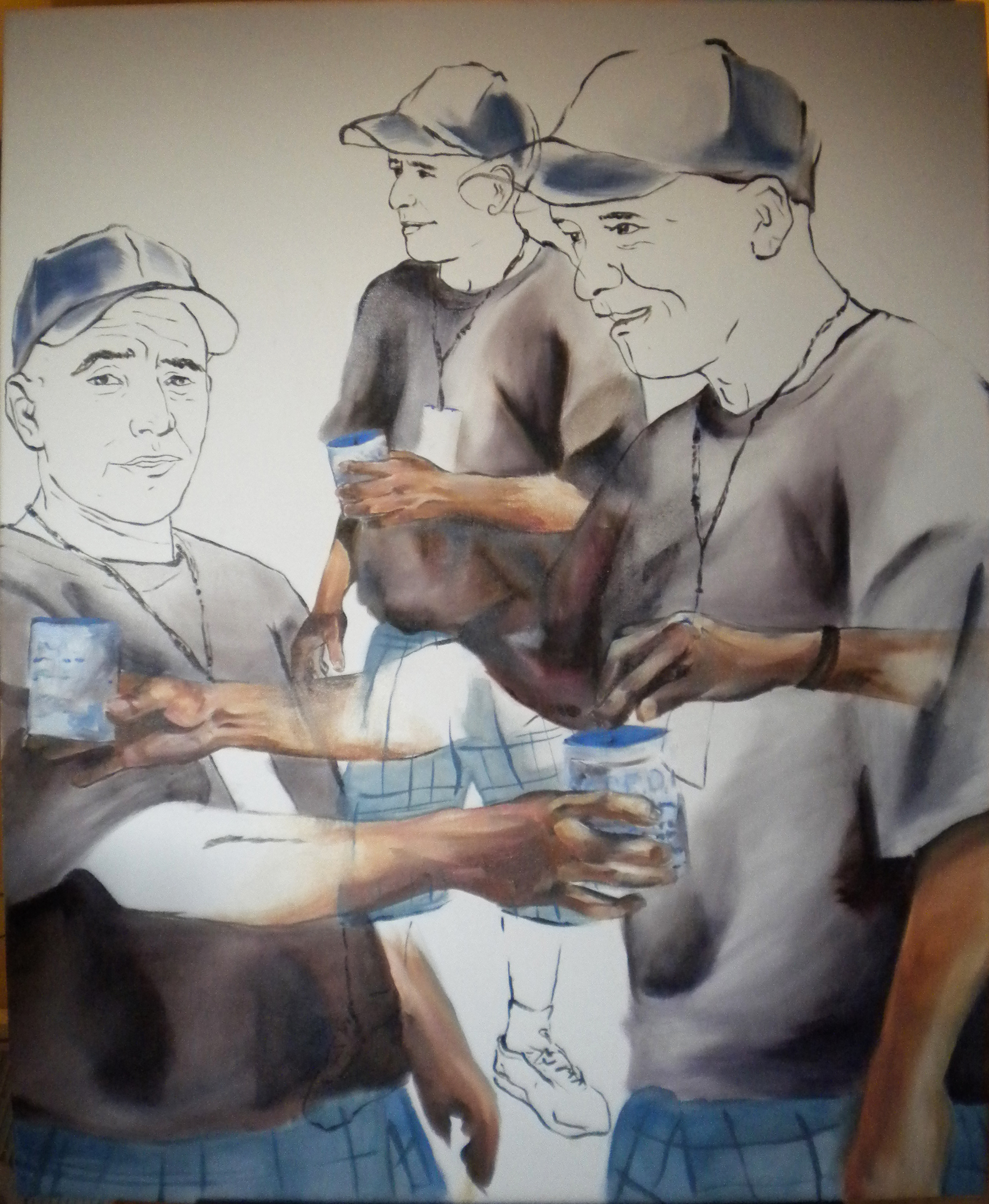 En la linea  2010 oil on canvas 94 x 110 cm
