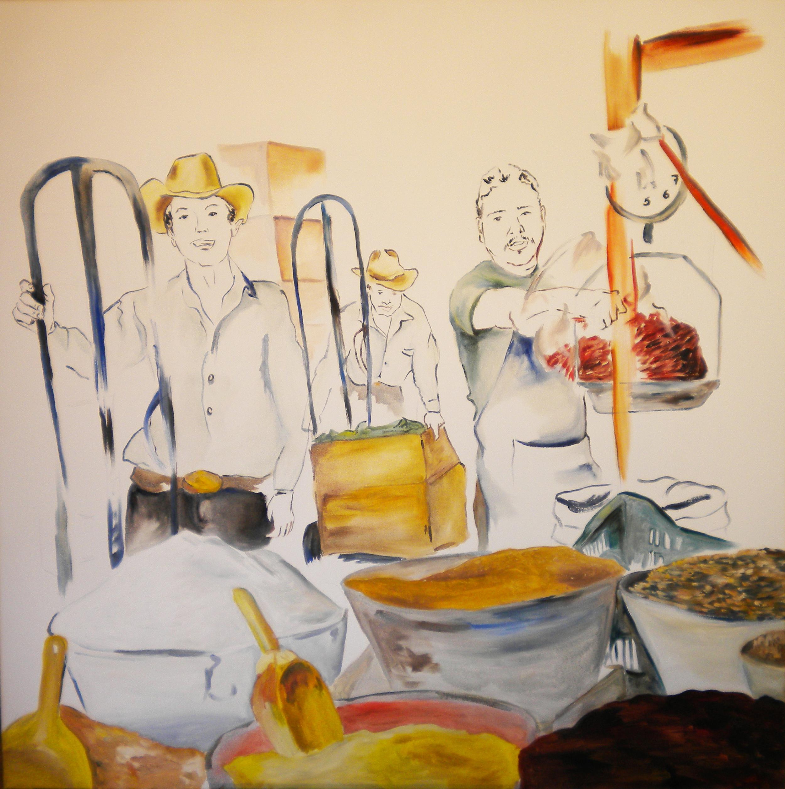 Especias  2010 oil on canvas 116 x 116 (private collection)